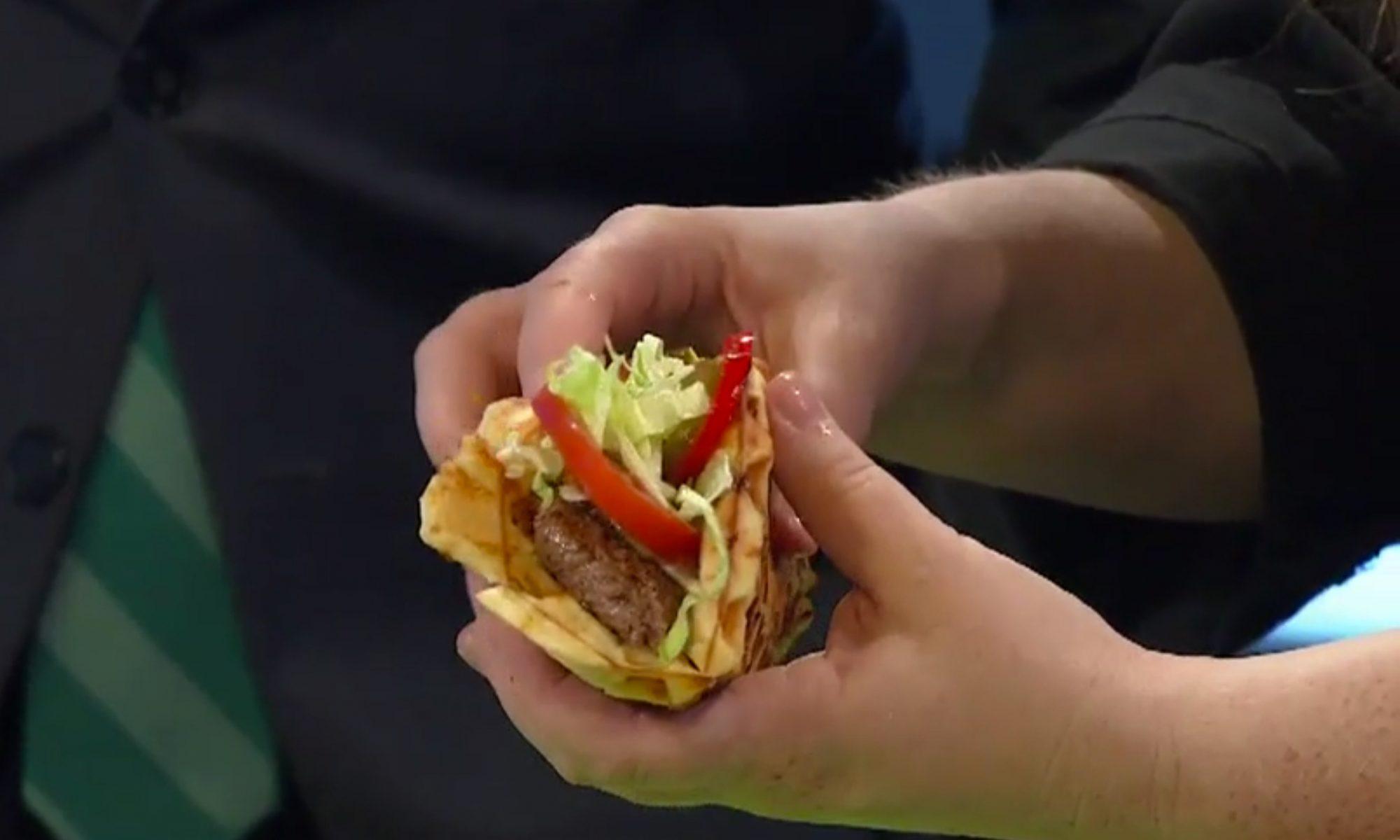 EC: How to Make a Cheeseburger Waffle Taco