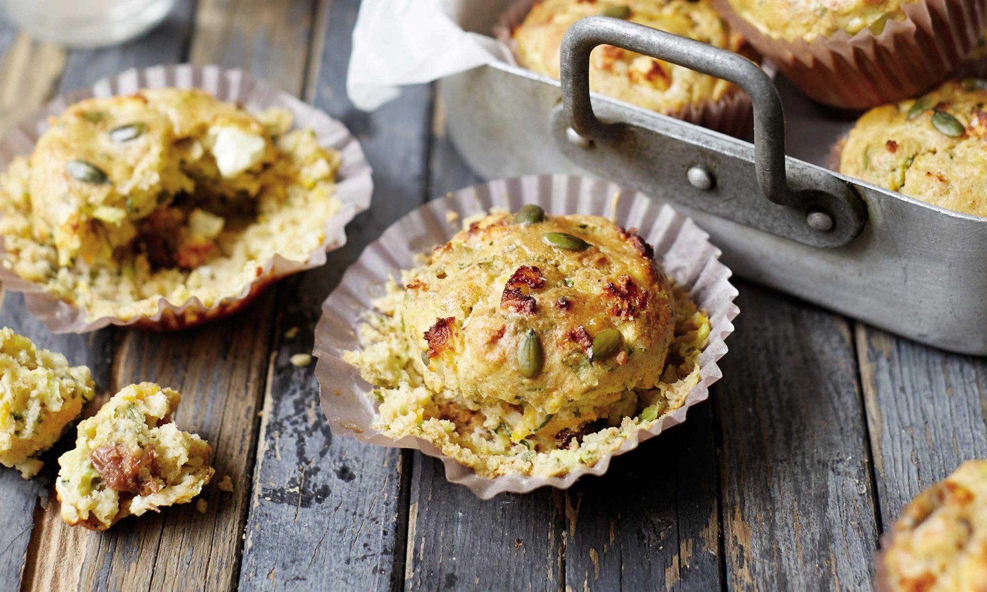 Savory Zucchini and Feta Muffins