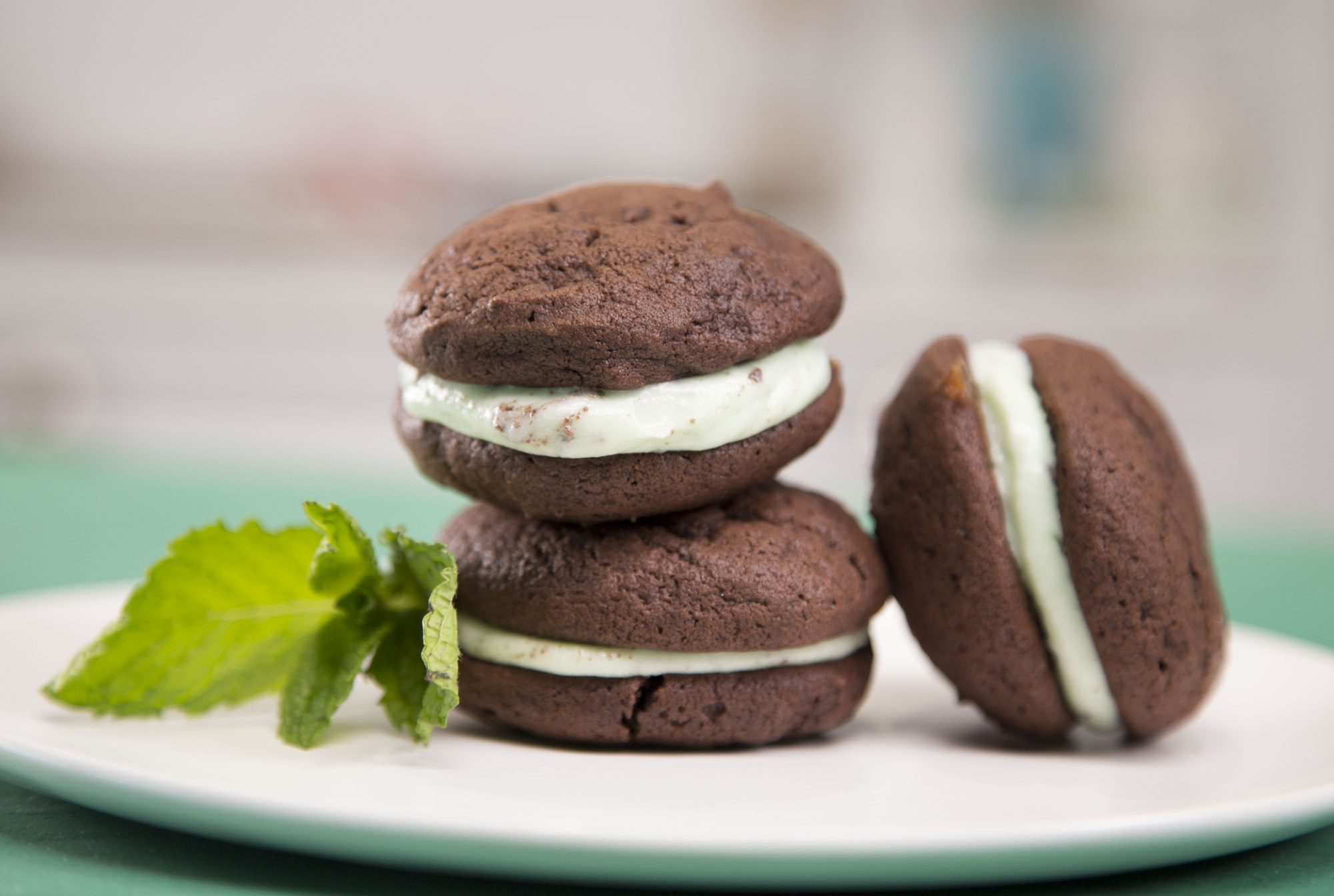 Thin Mint Whoopie Pies image
