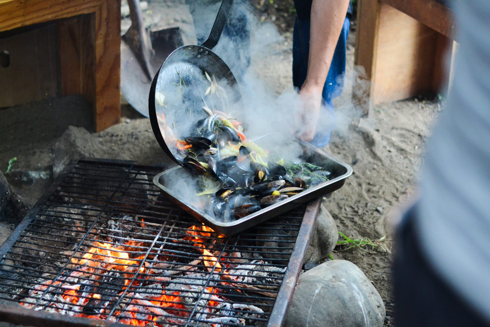 Cooking mussels at a curanto.jpg