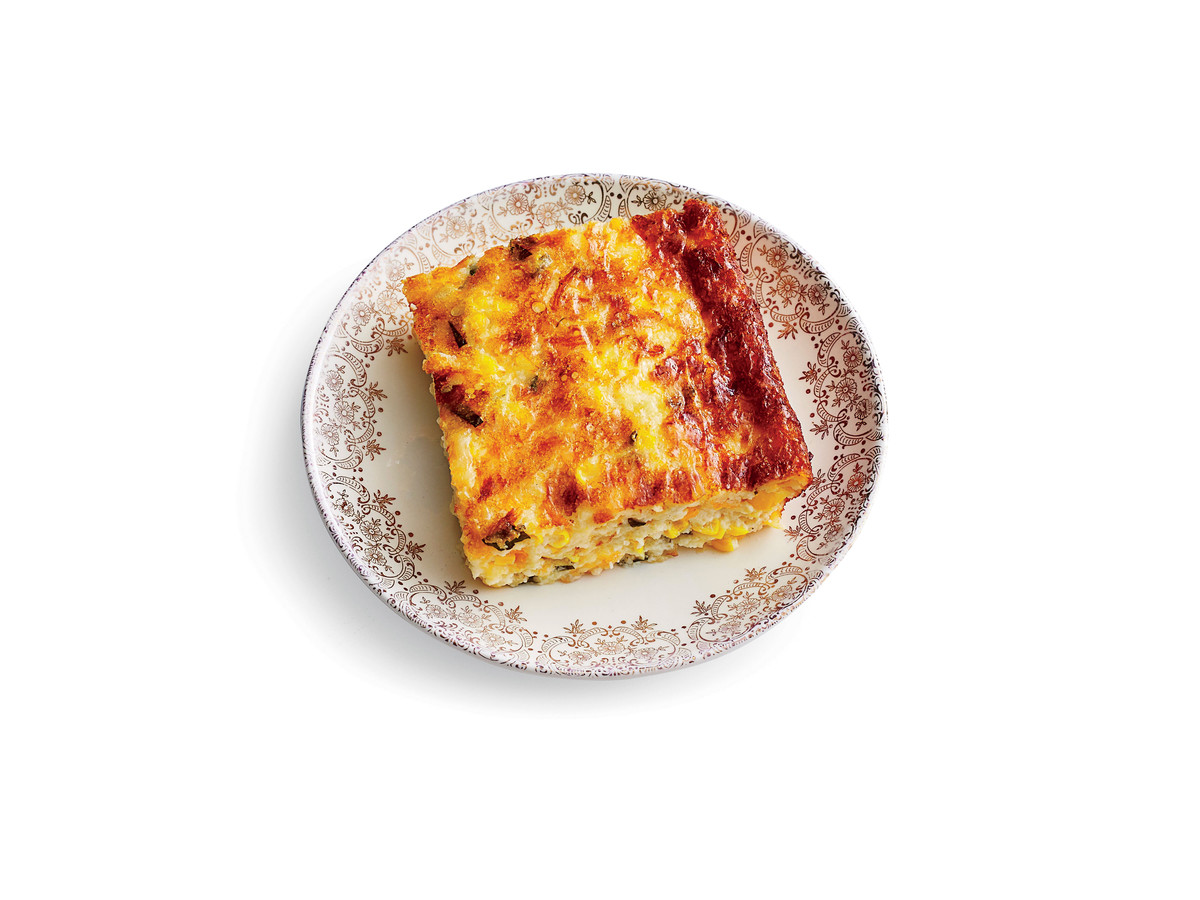 Three-Cheese Corn Pudding