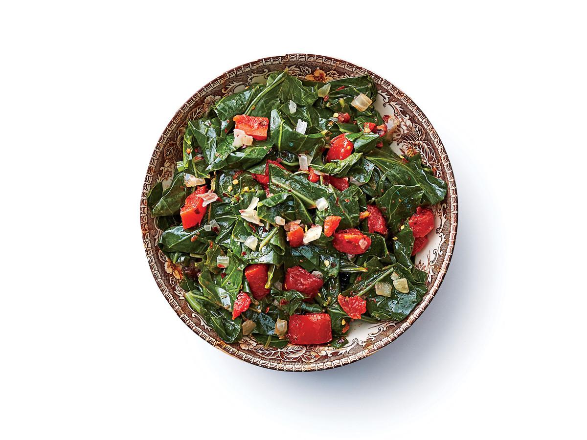 Vegetarian Slow-Cooker Collard Greens