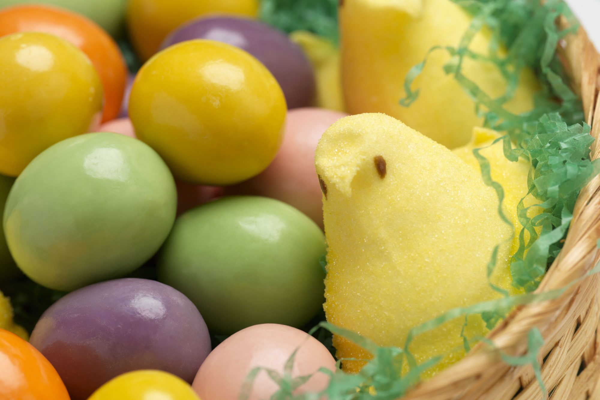 peeps in easter basket