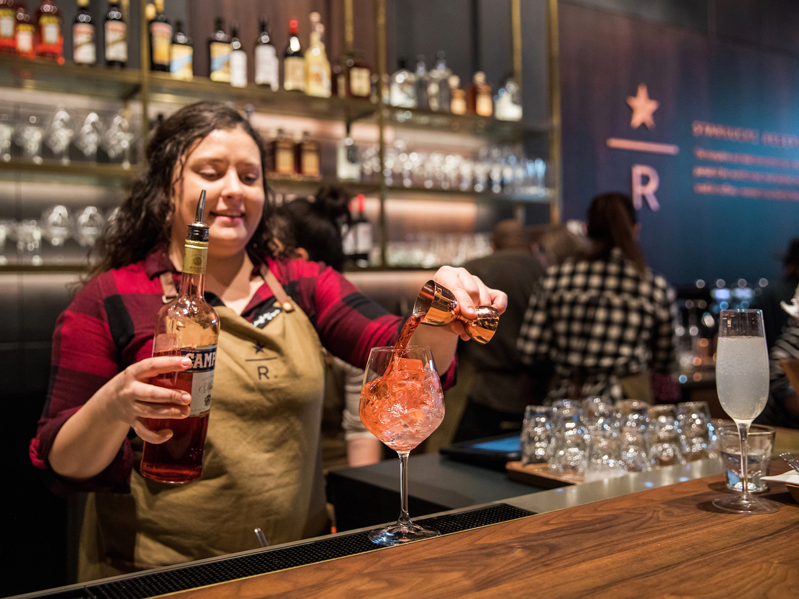 bar at starbucks