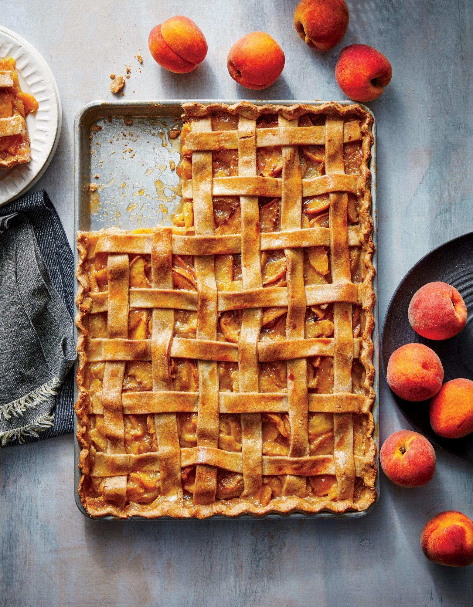 Peach-Vanilla Slab Pie