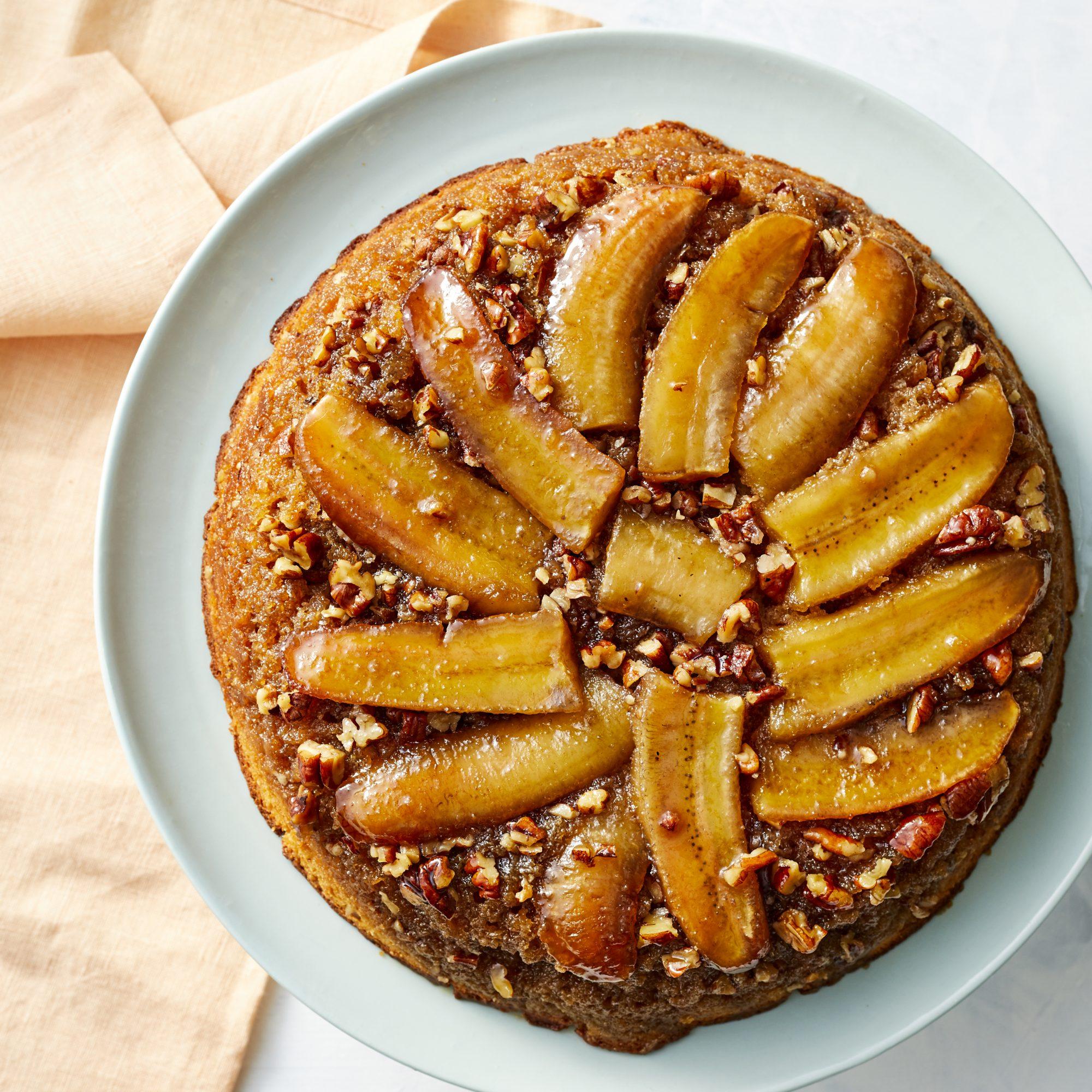 Banana Upside-Down Pancake Cake image