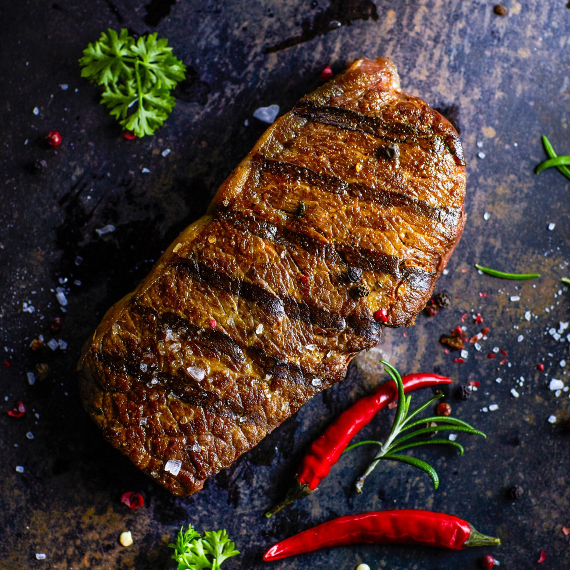 Steak, Overhead
