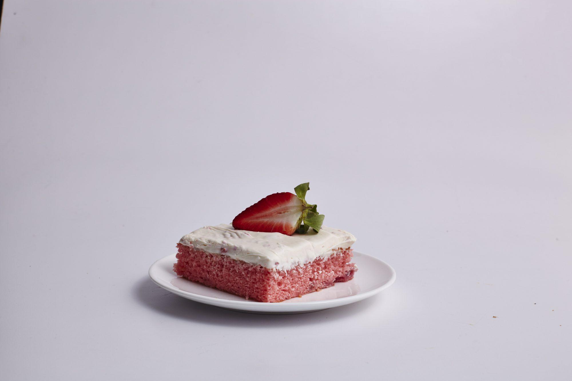 Fresh Strawberry Sheet Cake image