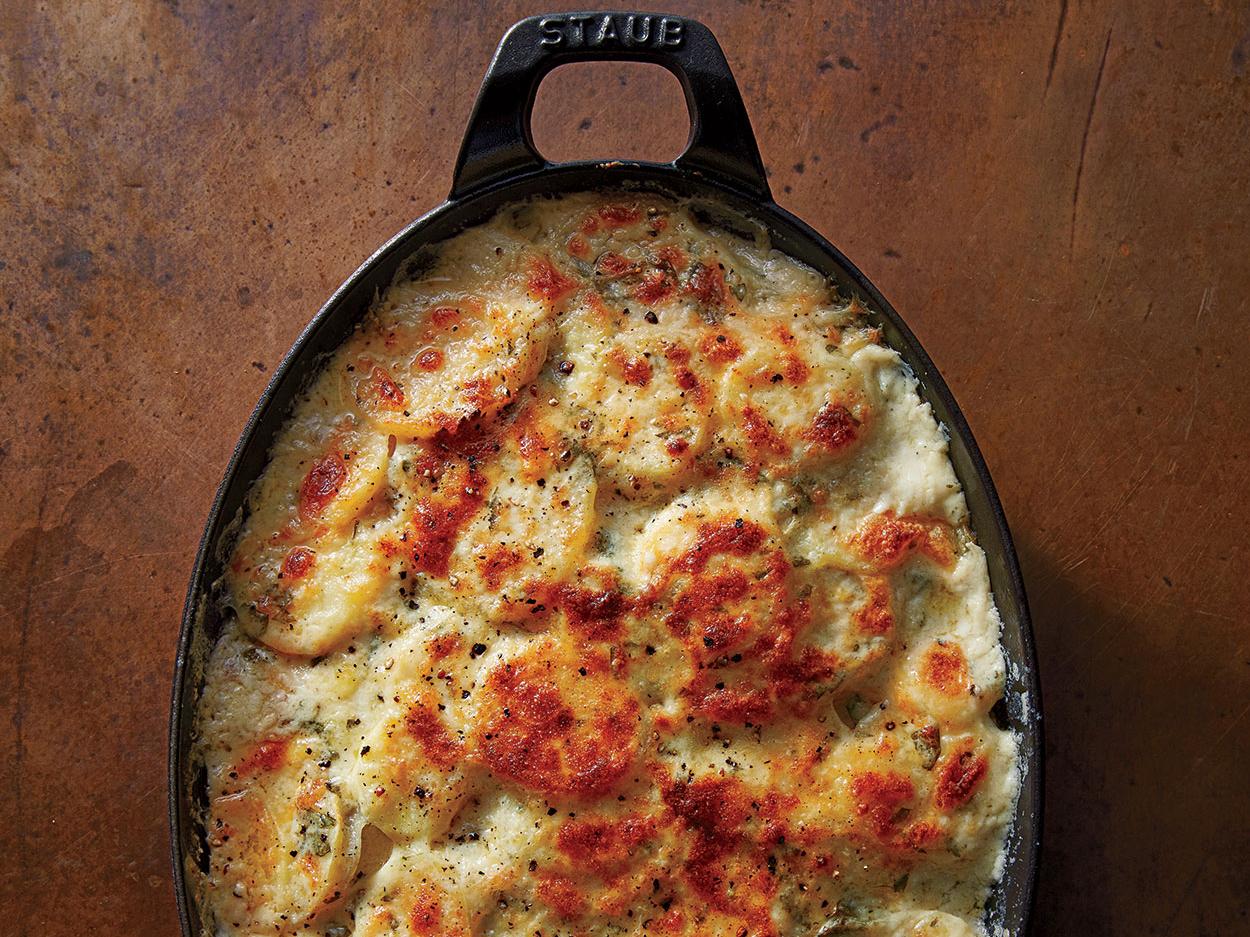 Potato and Parsnip Gratin