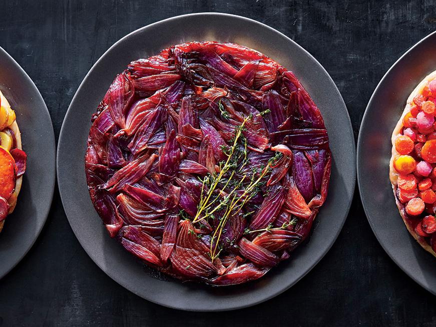Balsamic Onion and Thyme Tarte Tatin