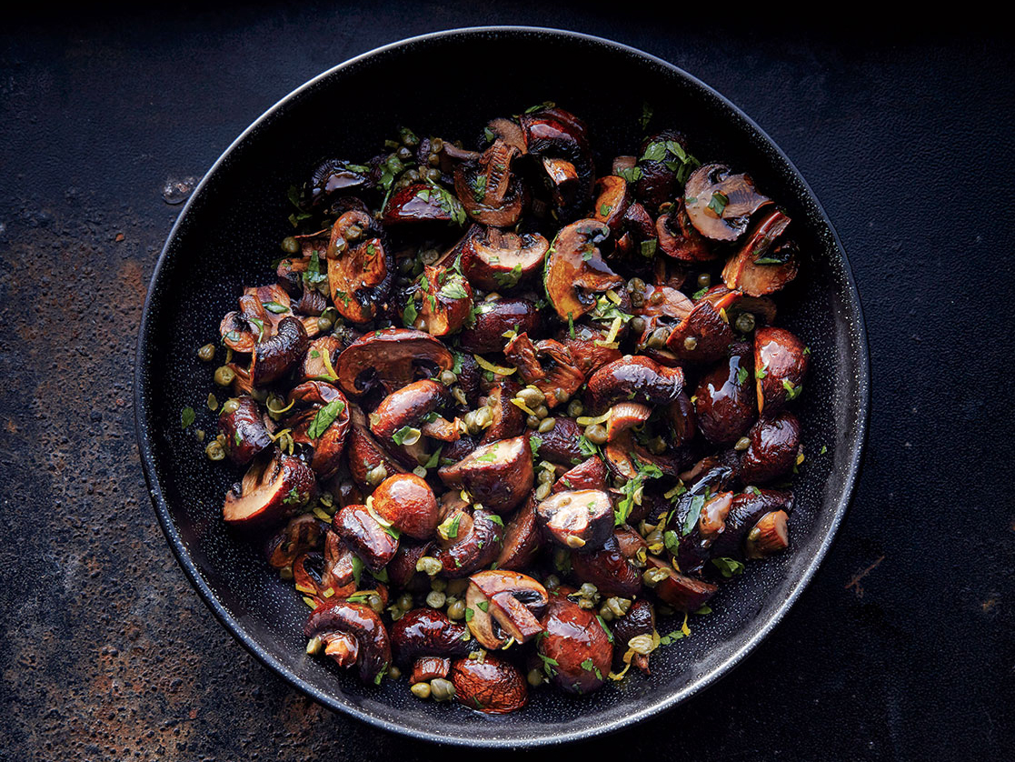Garlic-Caper Roasted Mushrooms
