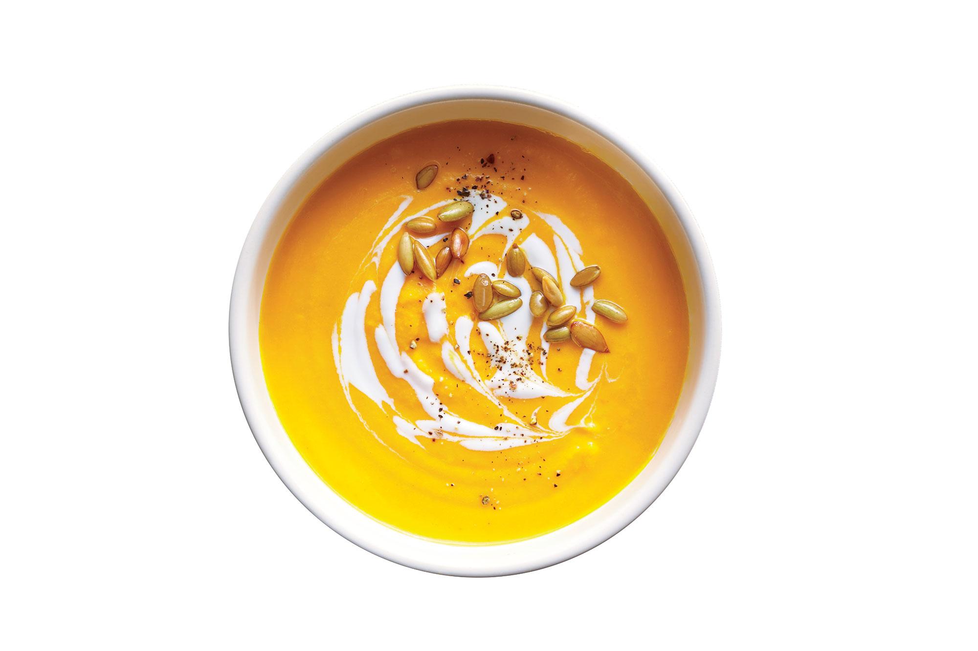 Creamy Carrot and Lemongrass Soup