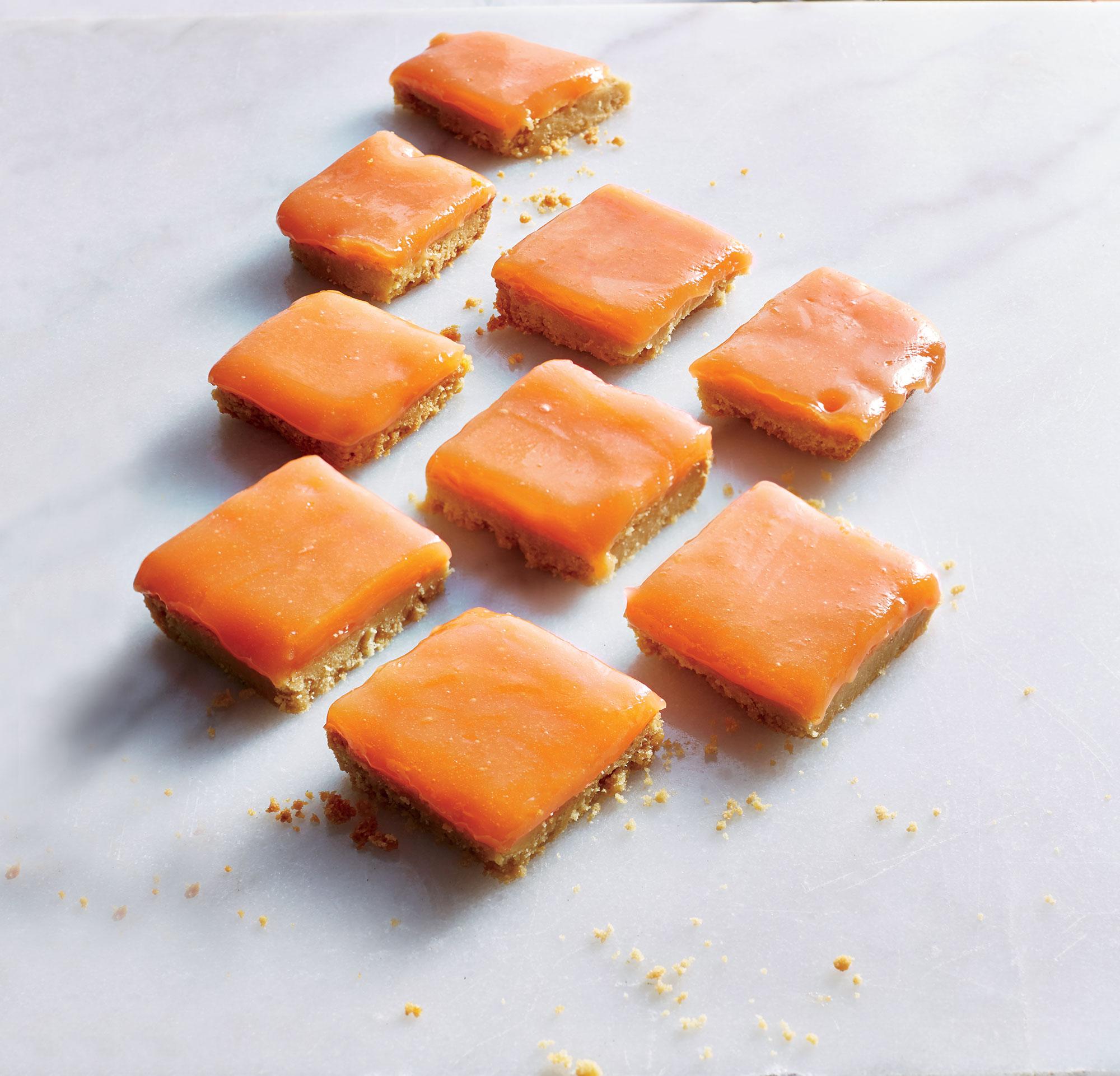 Grapefruit-Campari Bars with Shortbread Crust