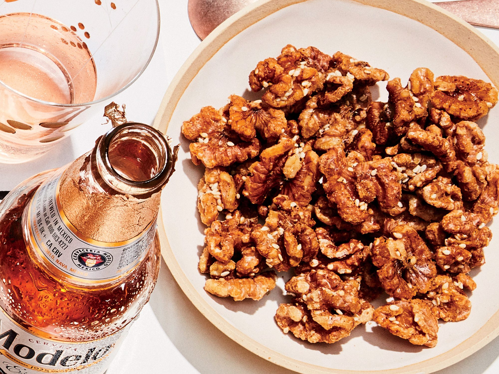 Maple-Sumac Roasted Walnuts