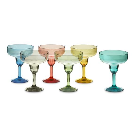 DuraClear® Margarita Glasses, Set of 6, Multi-Color