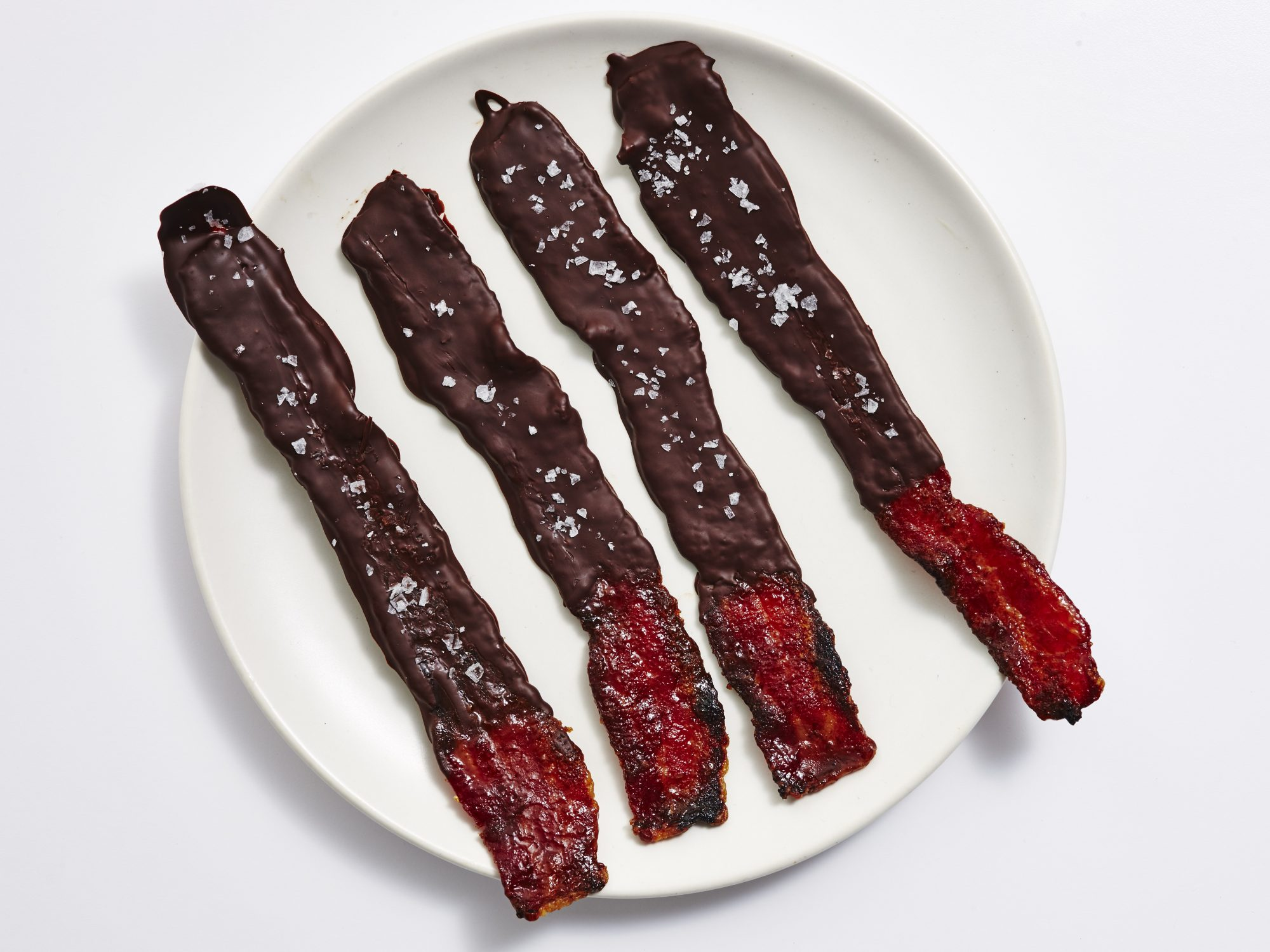 <p>Chocolate-Covered Candied Bacon</p>