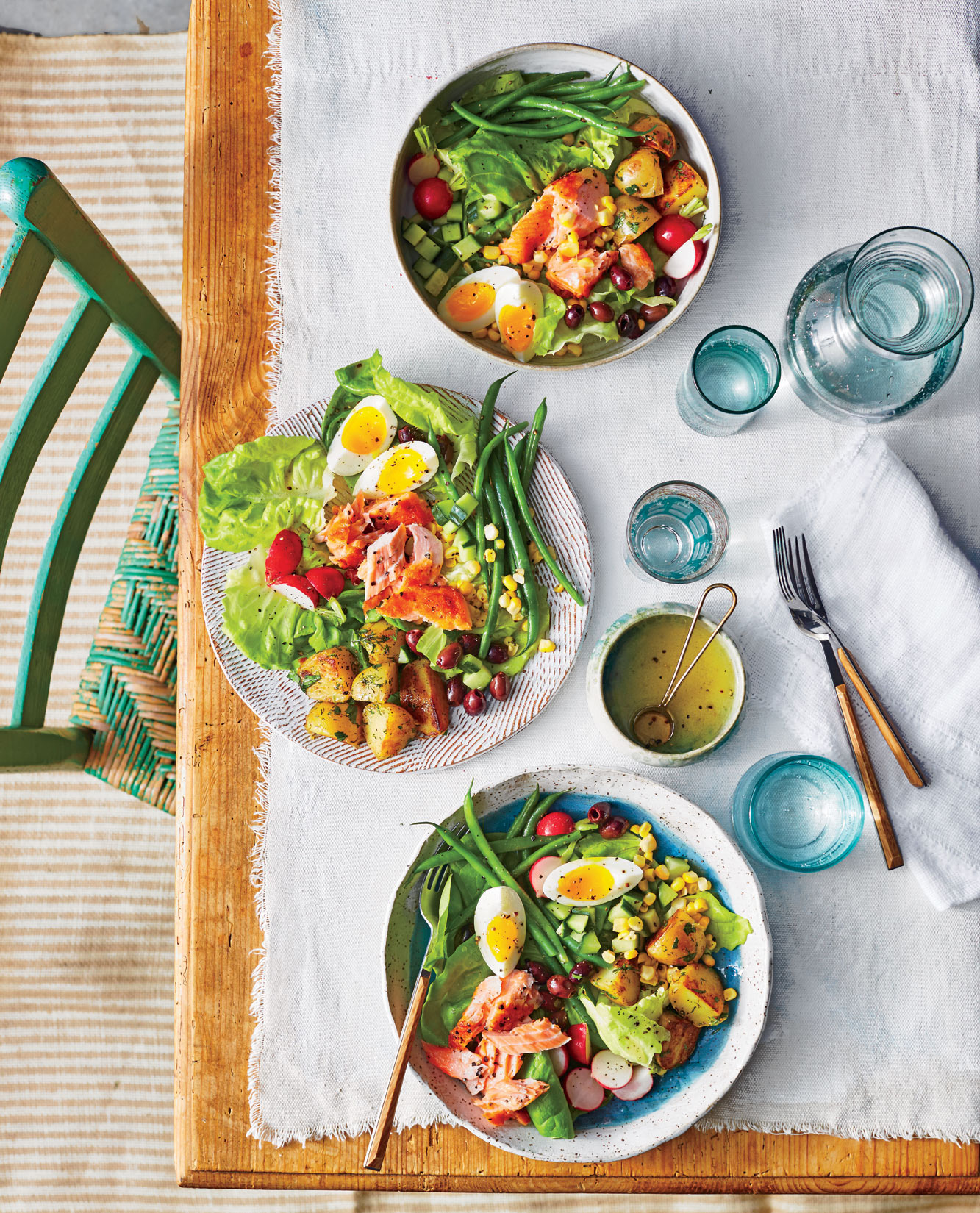 Summer Salmon Nicoise Salad