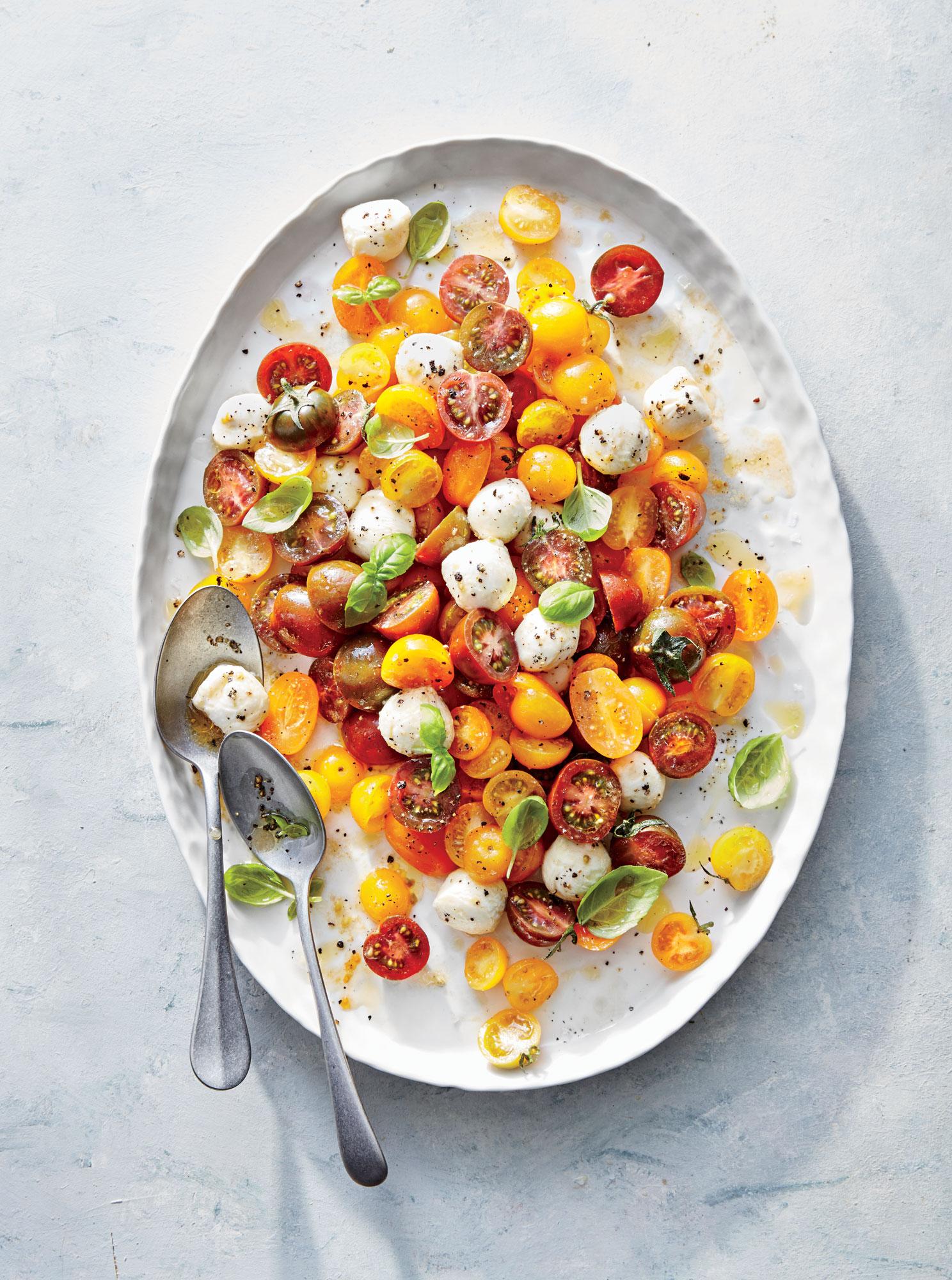 Sun Gold Tomato Caprese Salad
