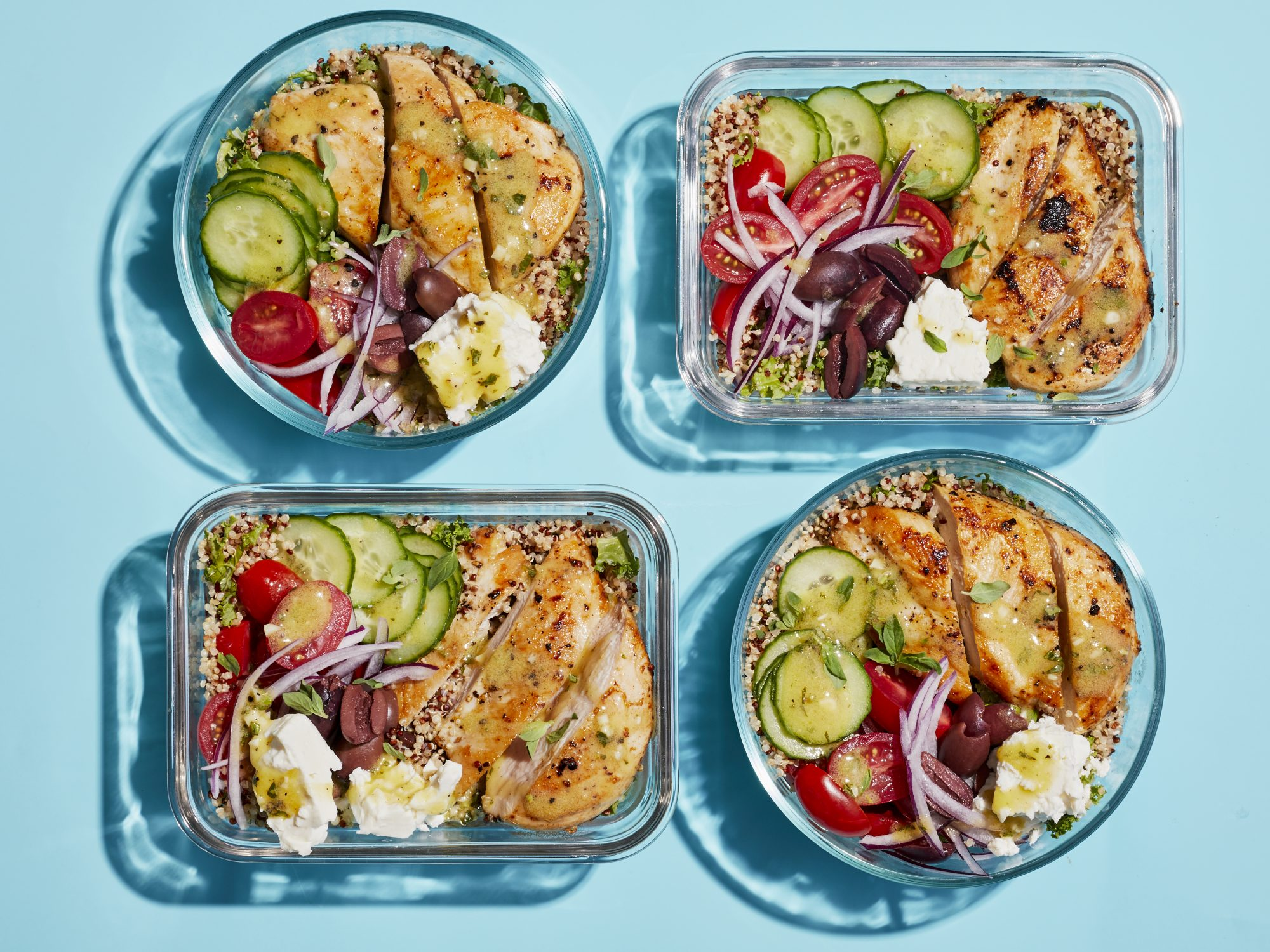 Greek Chicken Grain Bowls