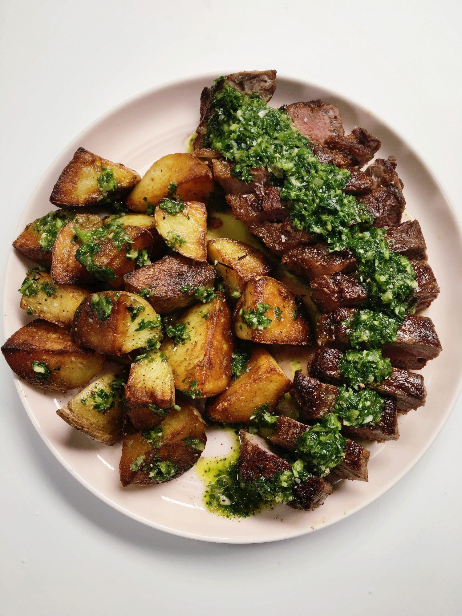 Easy Steak Dinner with Potatoes