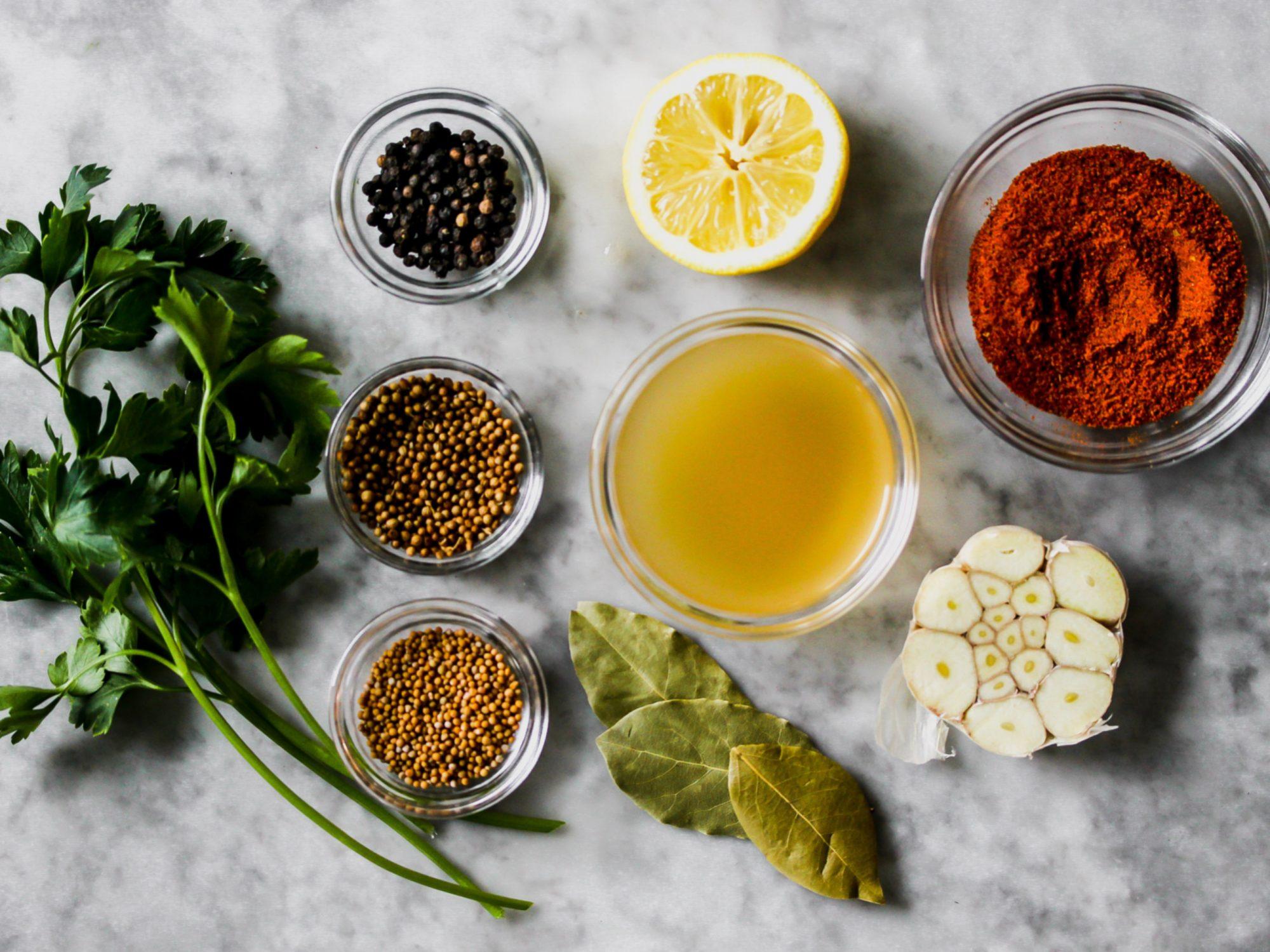 Boiled Shrimp Ingredients