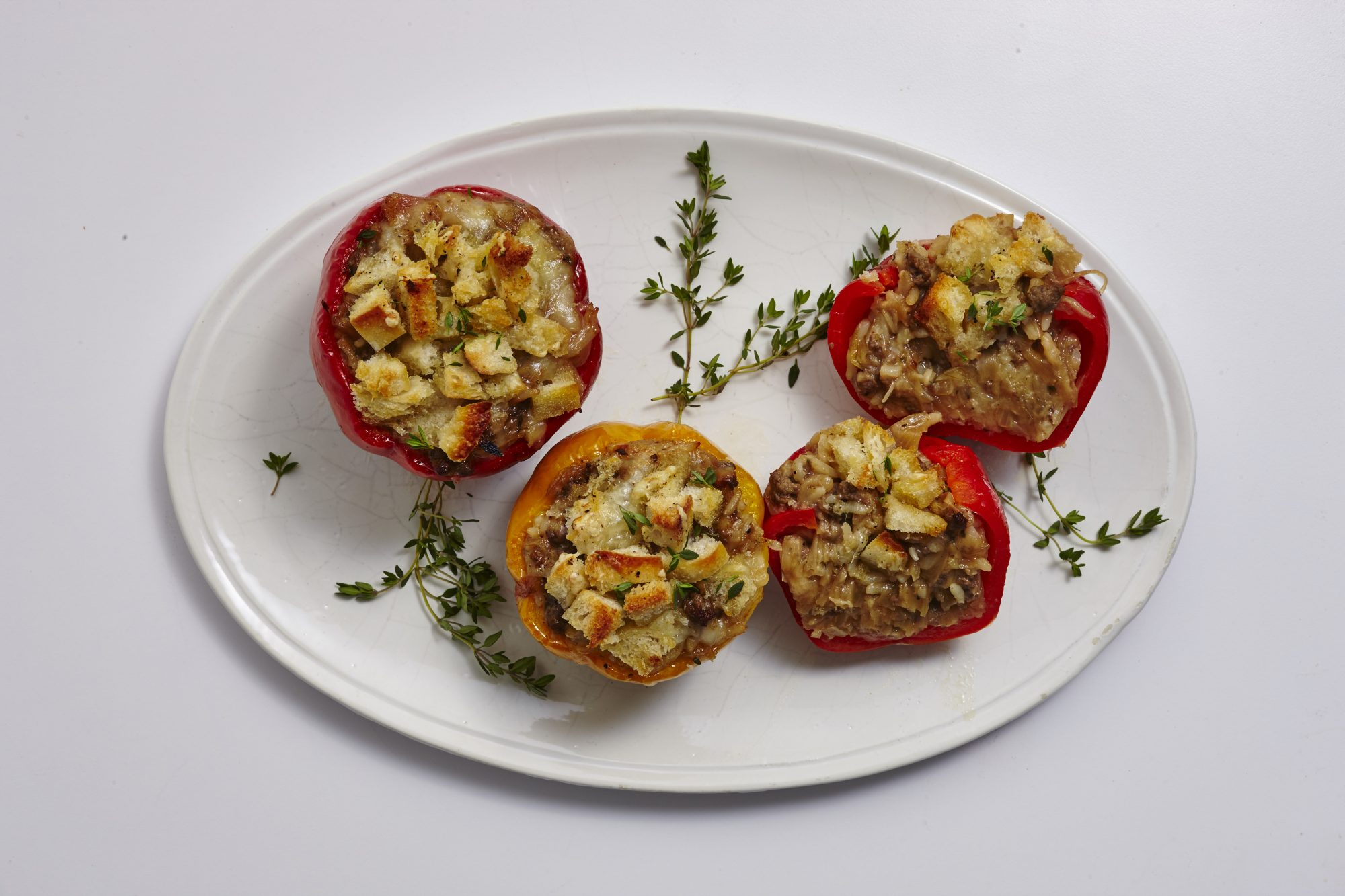 French Onion Stuffed Peppers image
