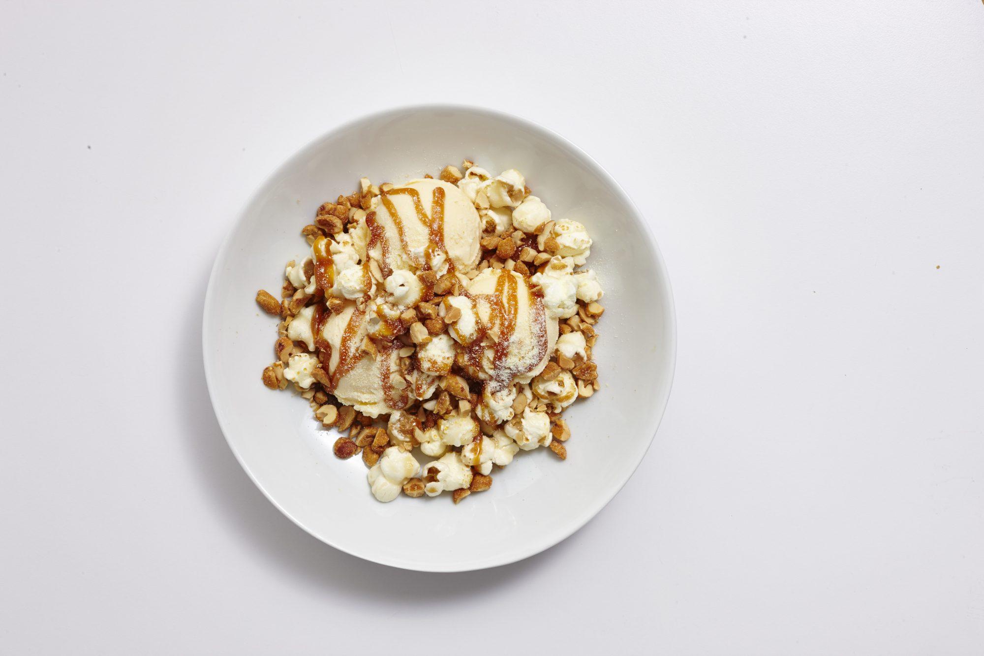 Popcorn Ice Cream Sundae image