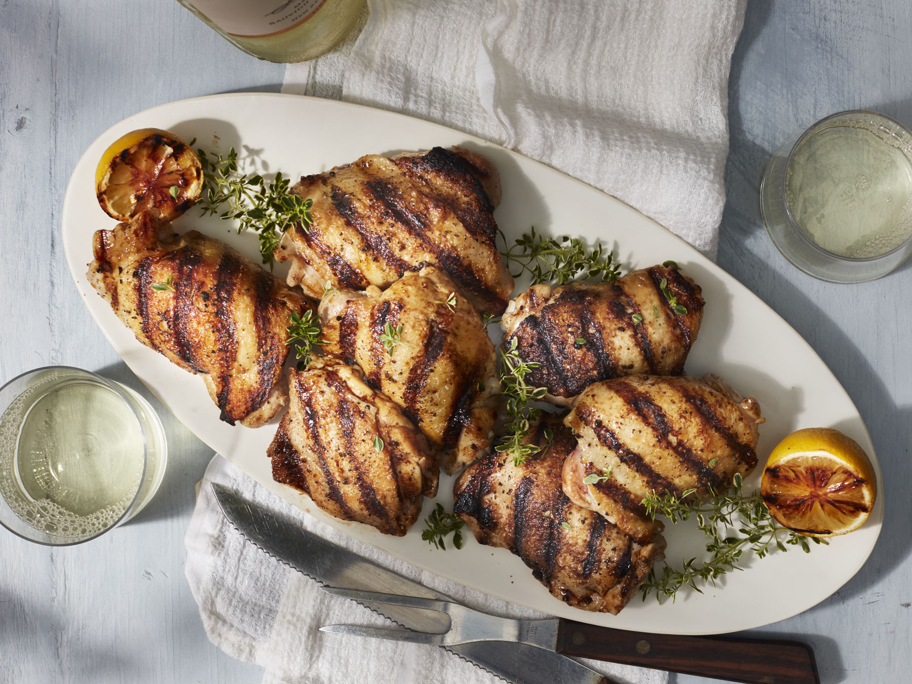 Grilled Bone-In Chicken Thighs