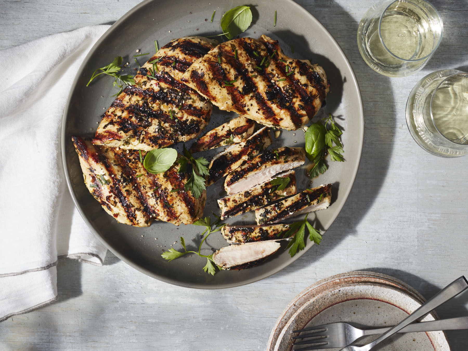 <p>Marinated Grilled Chicken Breasts</p>