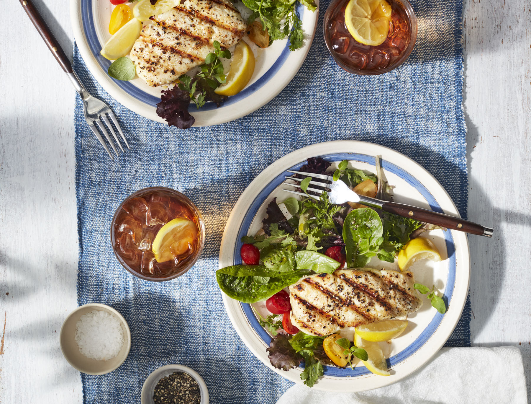 <p>Simple Grilled Halibut</p>