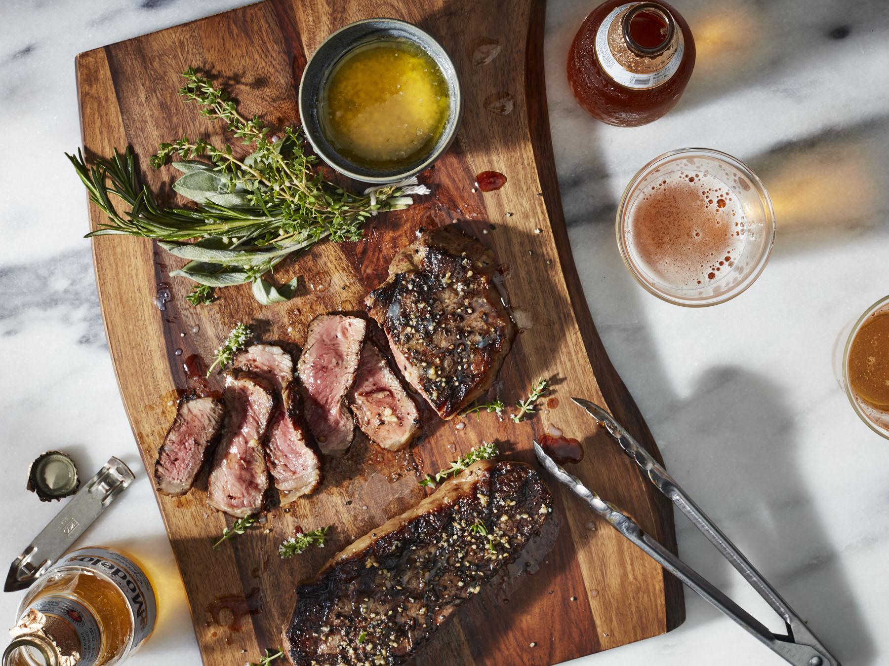 mr-Grilled New York Strip Steaks Image