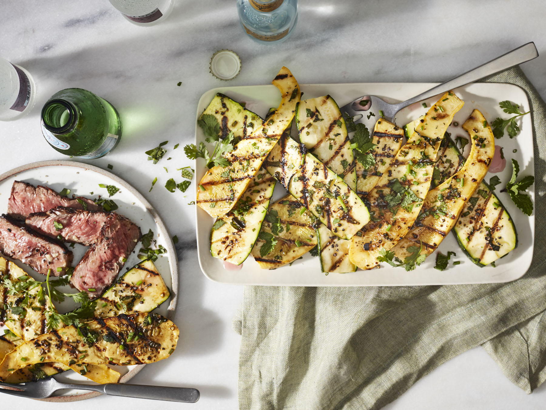 Herb-Grilled Summer Squash
