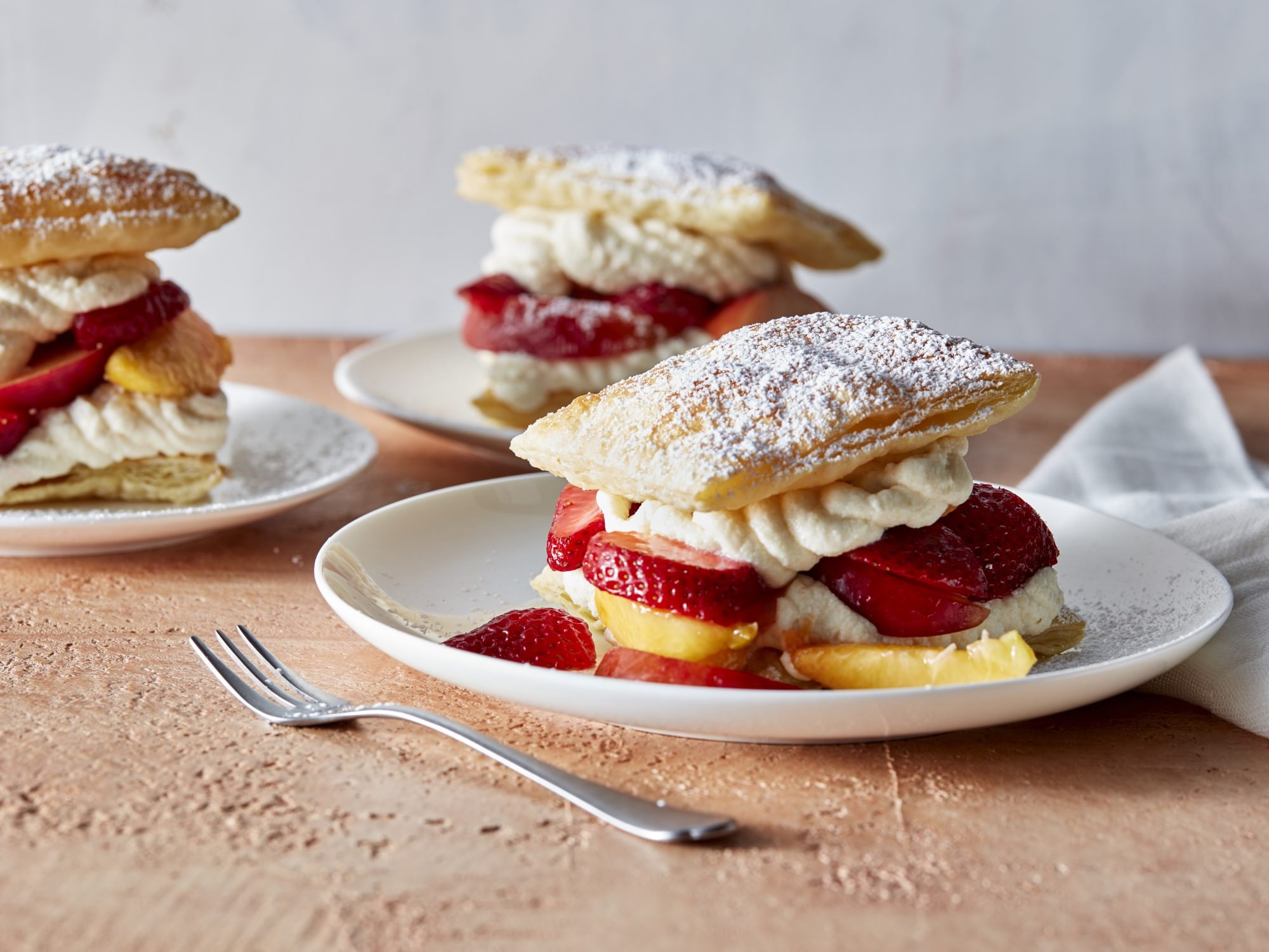 Puff Pastry Summer Fruit Shortcakes