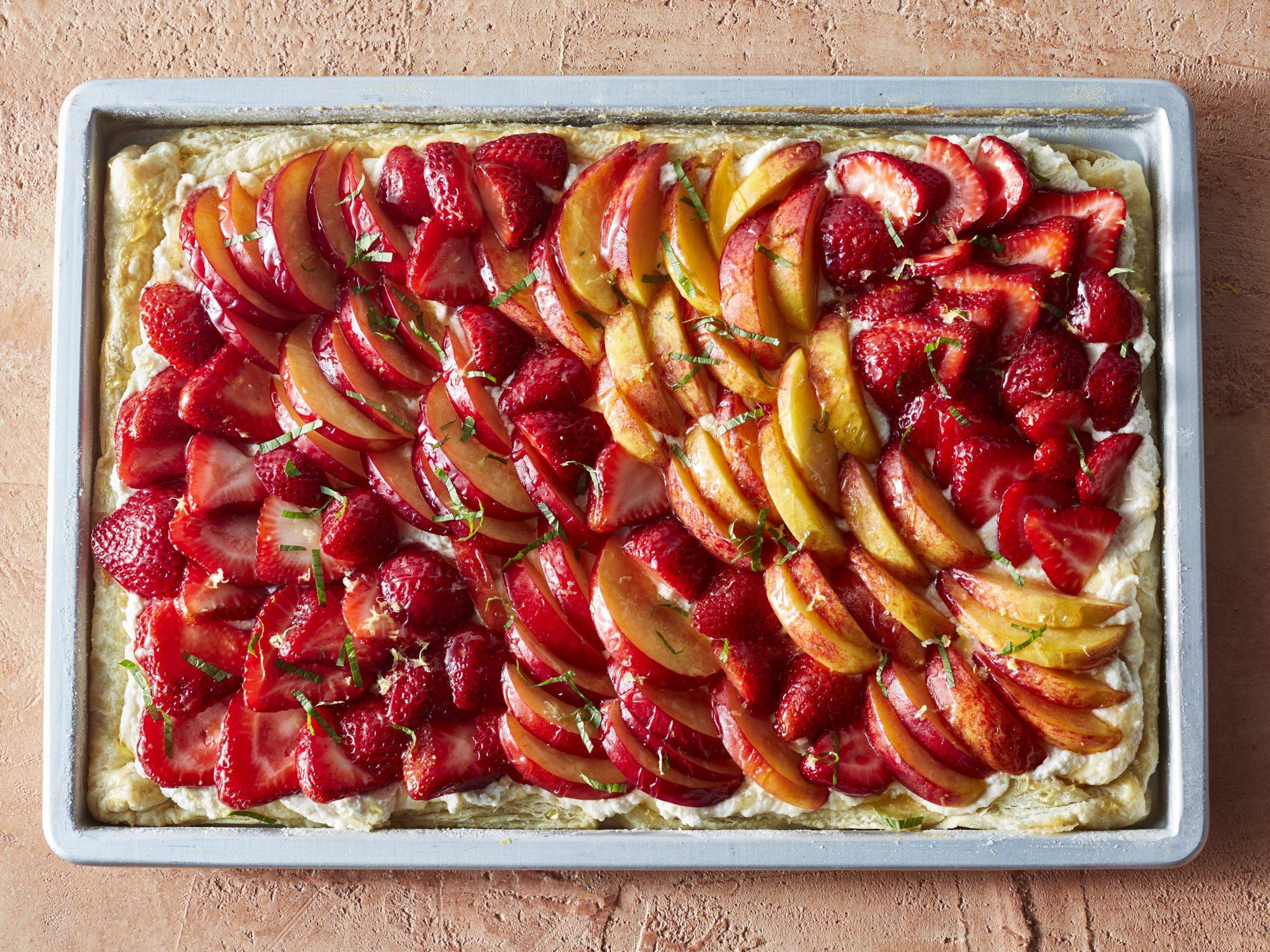 Puff Pastry Summer Fruit Slab Pie image