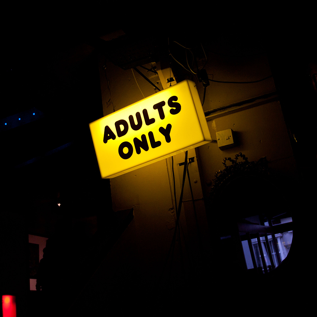 ADULT ONLY VIDEO STORE ENTRANCE TO NIGHTCLUB FWX