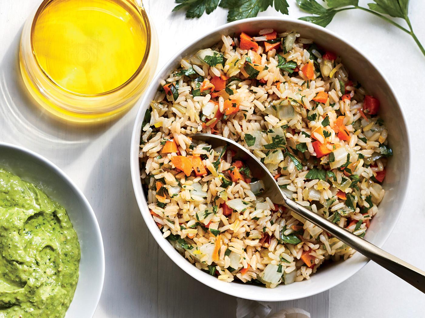 Parslied Brown Rice Pilaf