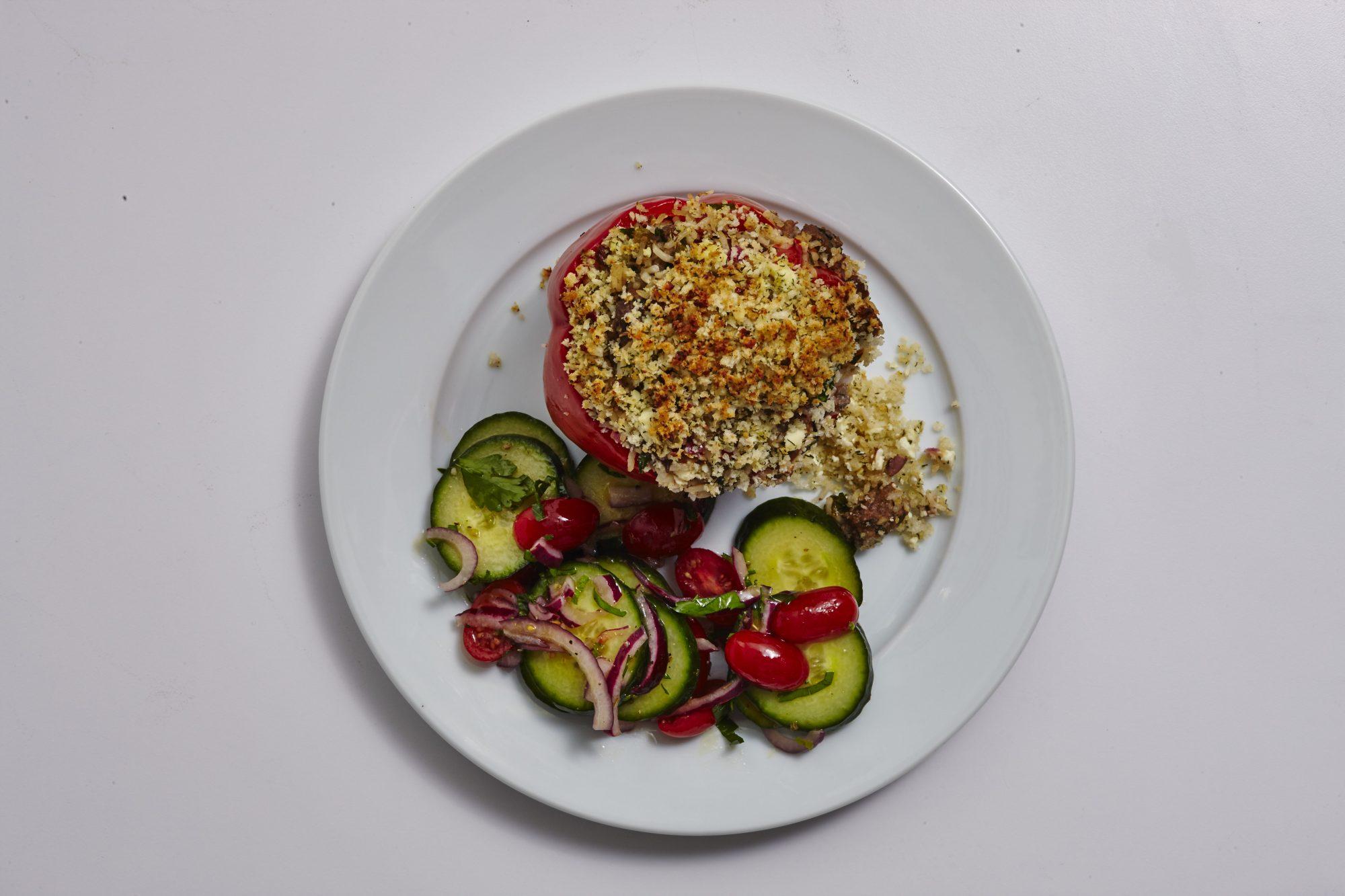 Greek Stuffed Peppers image