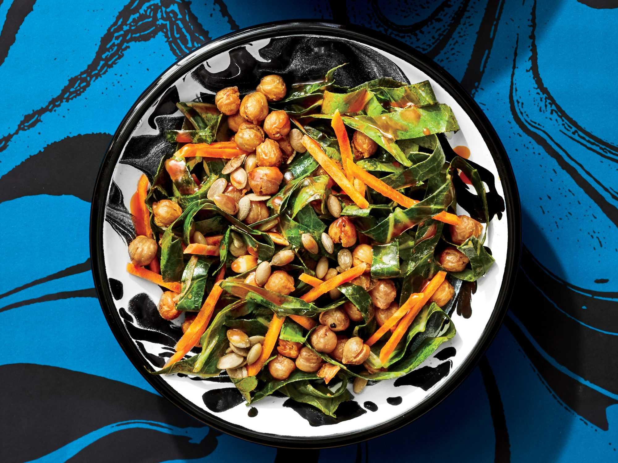 Collard and Chickpea Salad