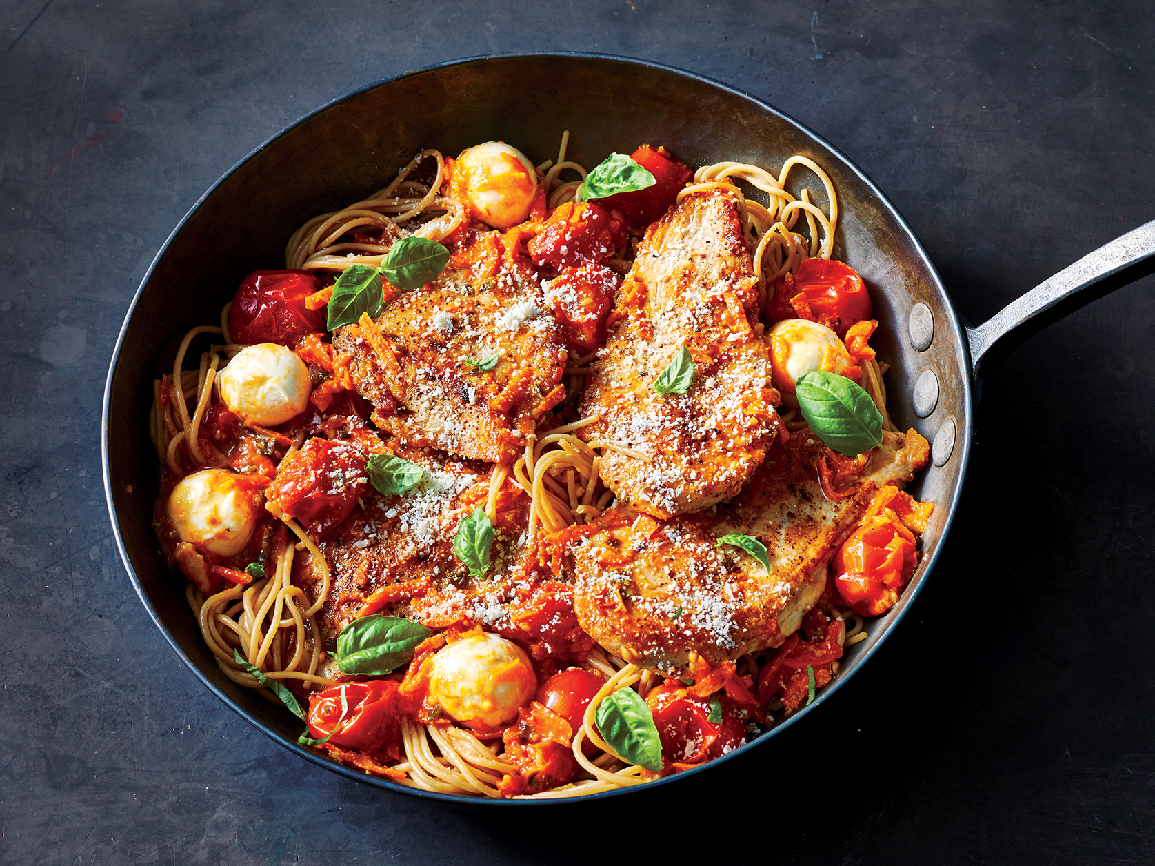 Tomato, Basil, and Chicken Pasta