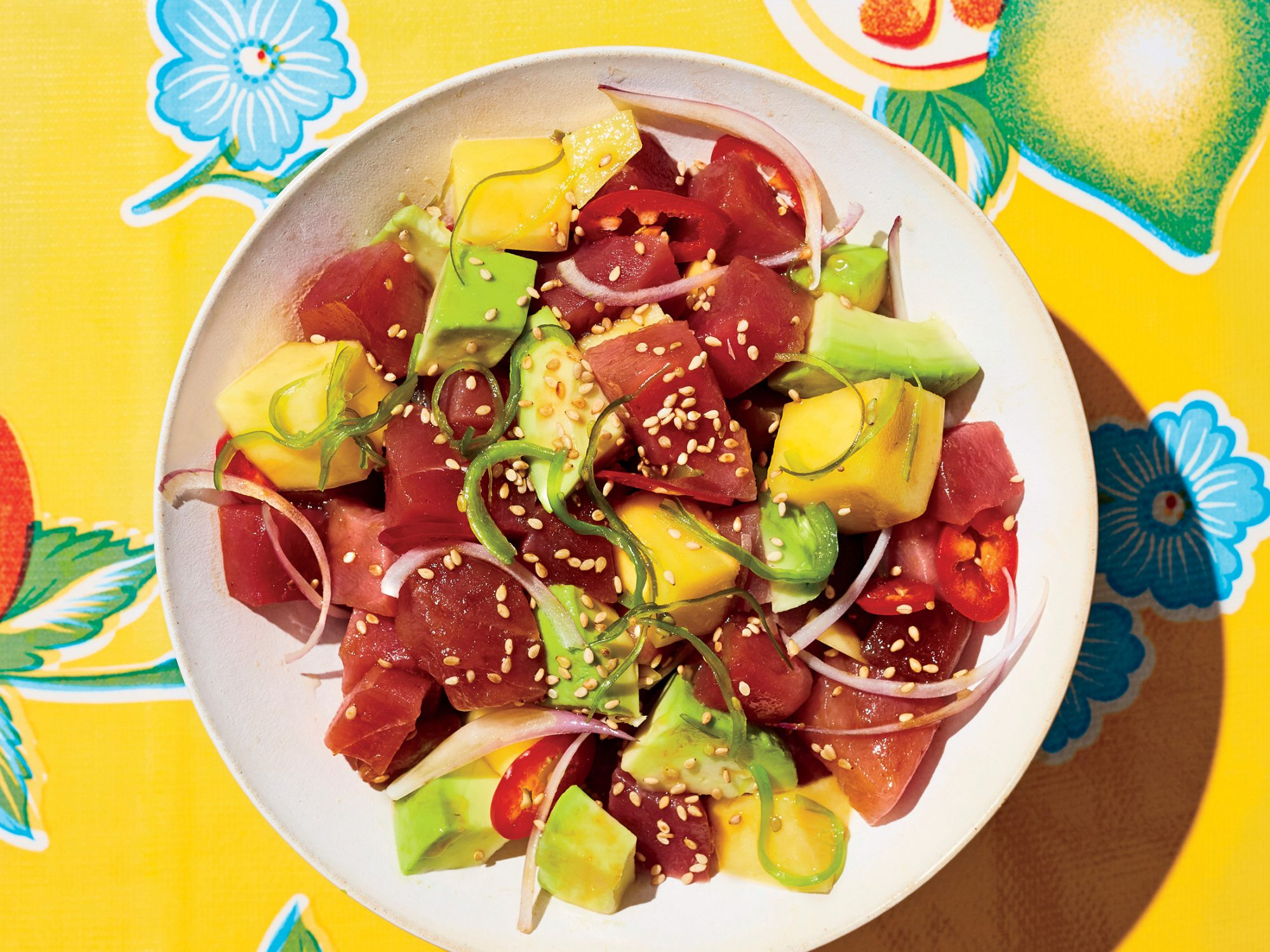 Tuna Poke with Mango and Avocado