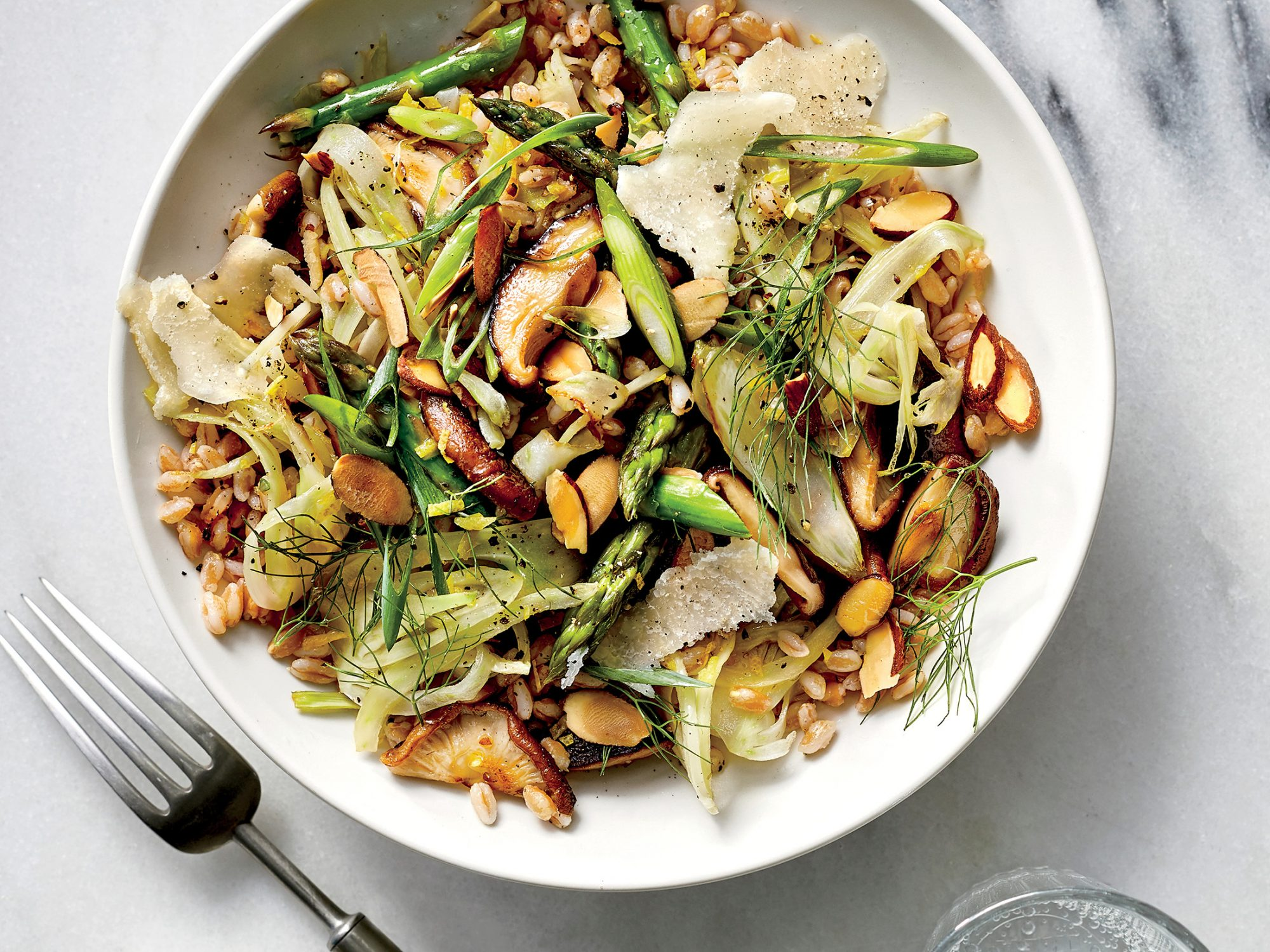 Mushroom and Asparagus Grain Bowl