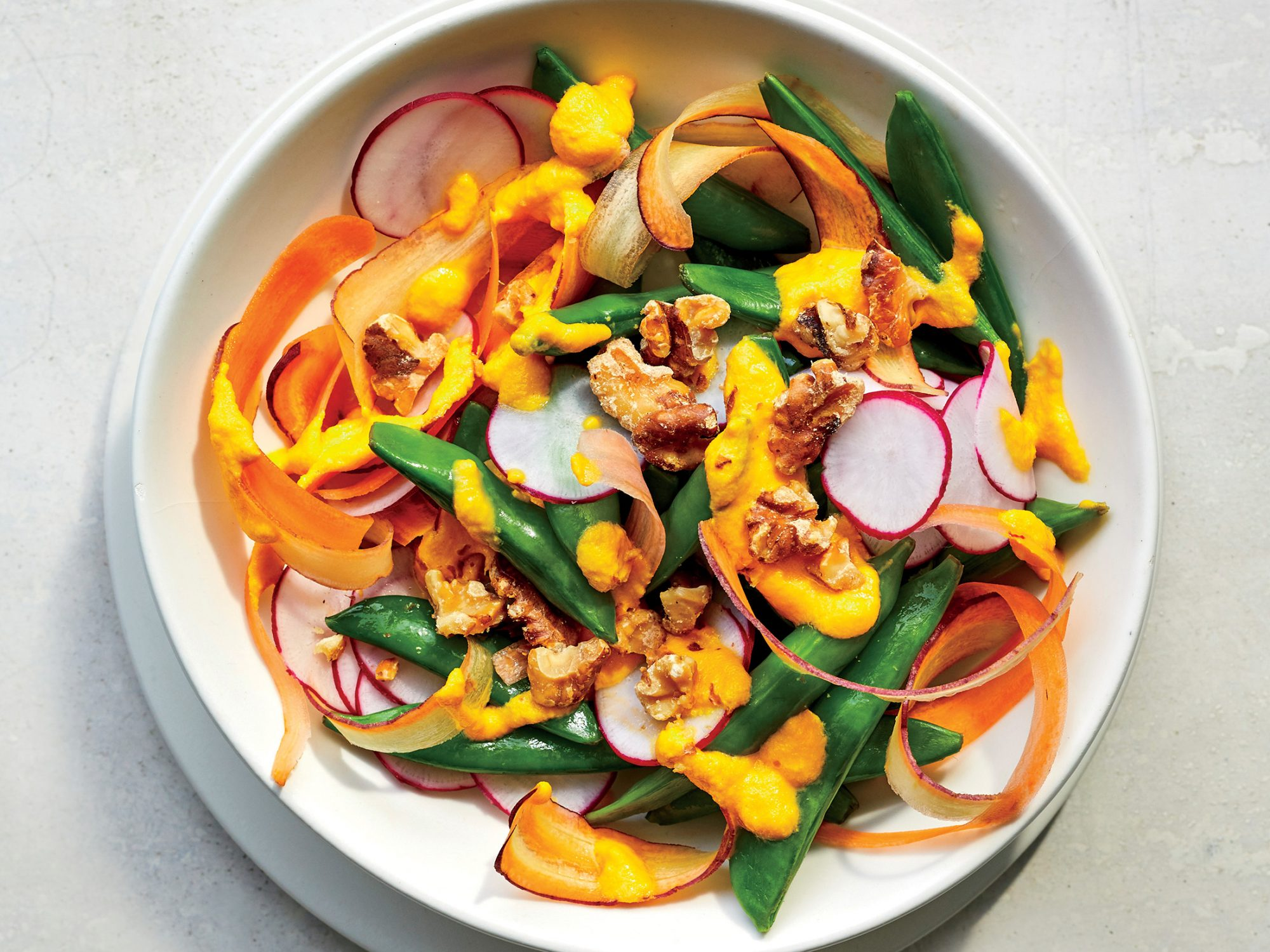 Pea, Radish, and Carrot Salad