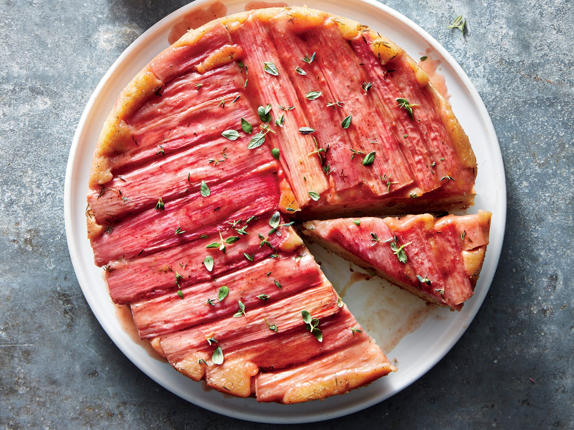 ck-Rhubarb Upside-Down Cake
