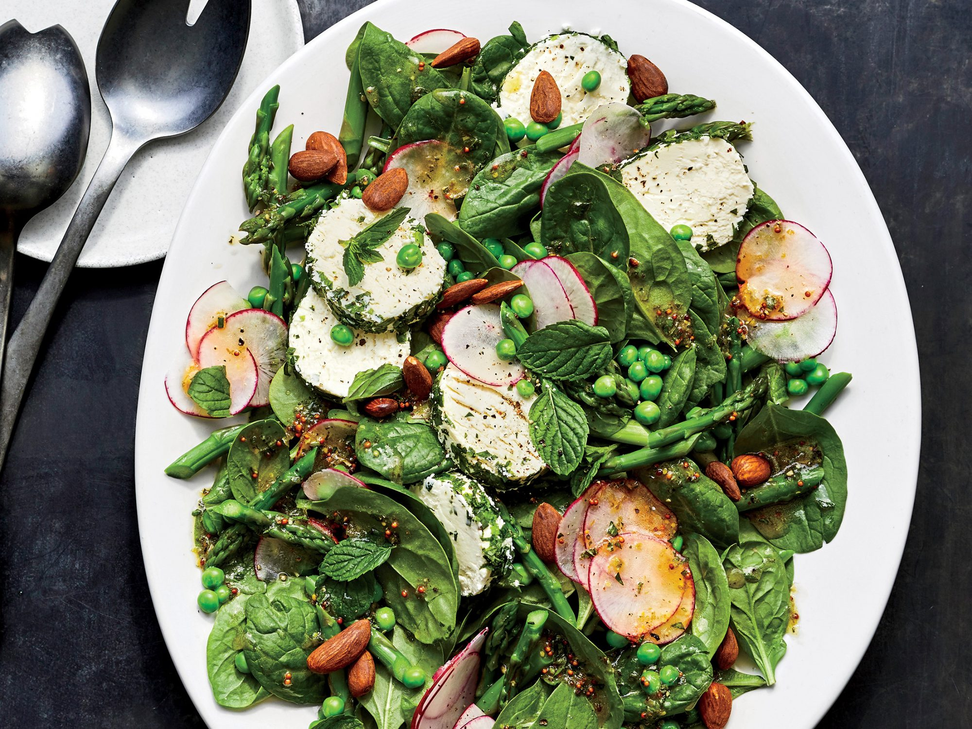 Spring Salad with Herbed Goat Cheese
