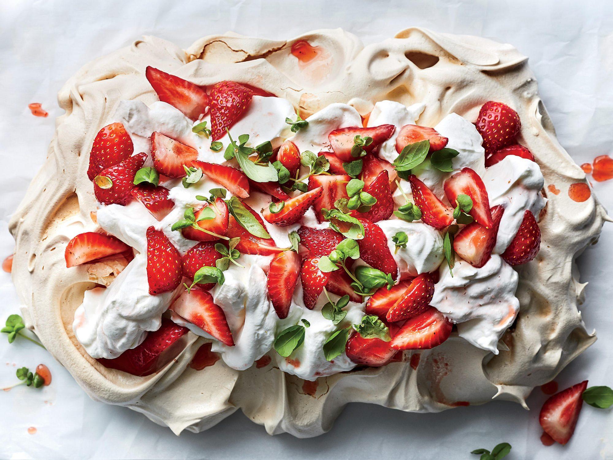 "Strawberry, Basil, and Balsamic ""Slablova"""