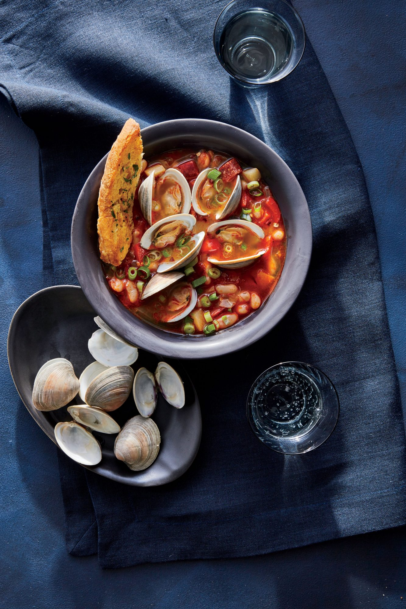 Spicy Clam, Chorizo, and White Bean Soup