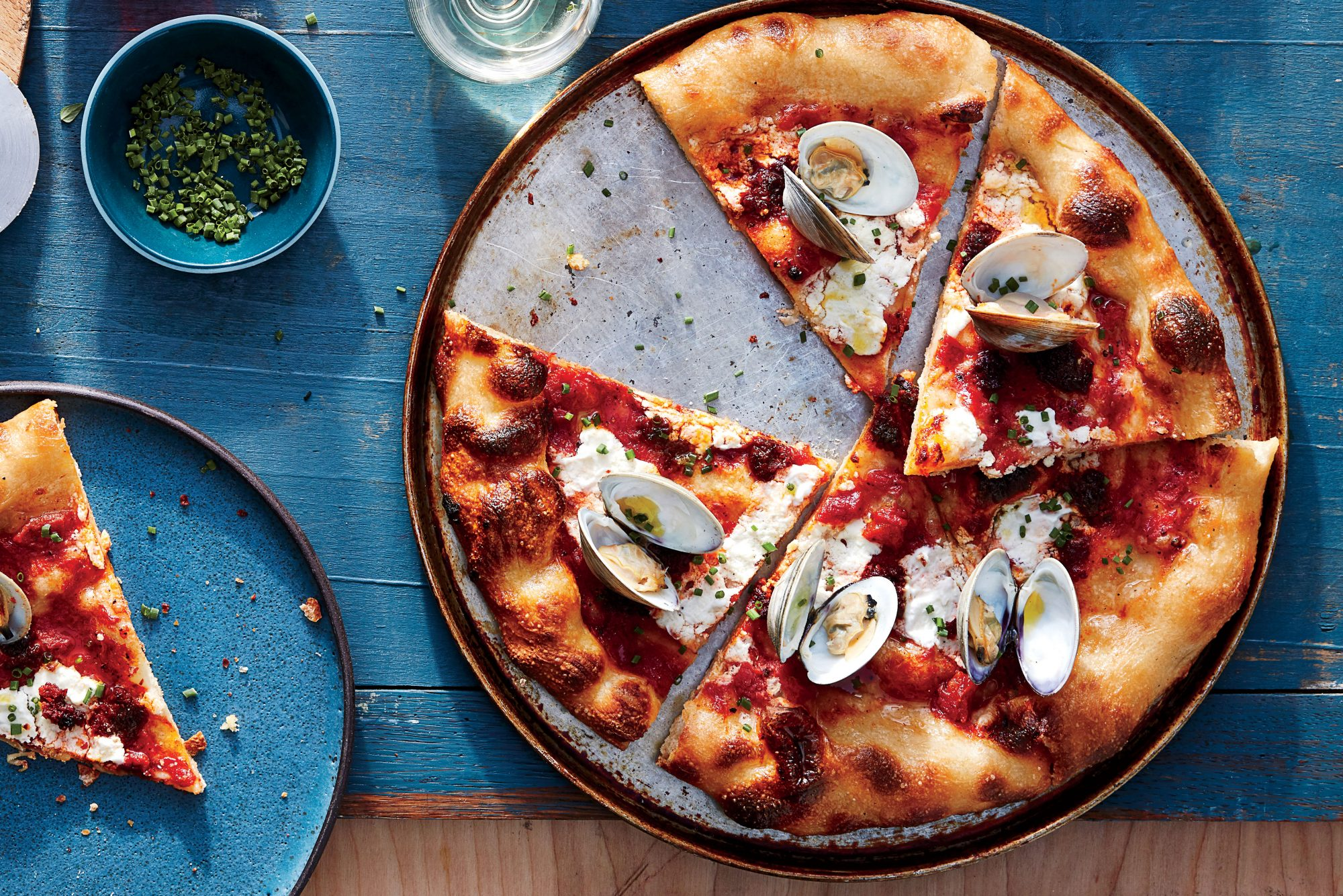 Clam-and-'Nduja Pizza