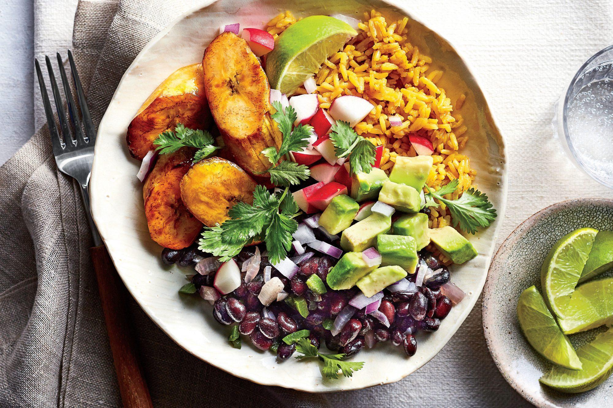 Cuban Black Bean-and-Yellow Rice Bowls
