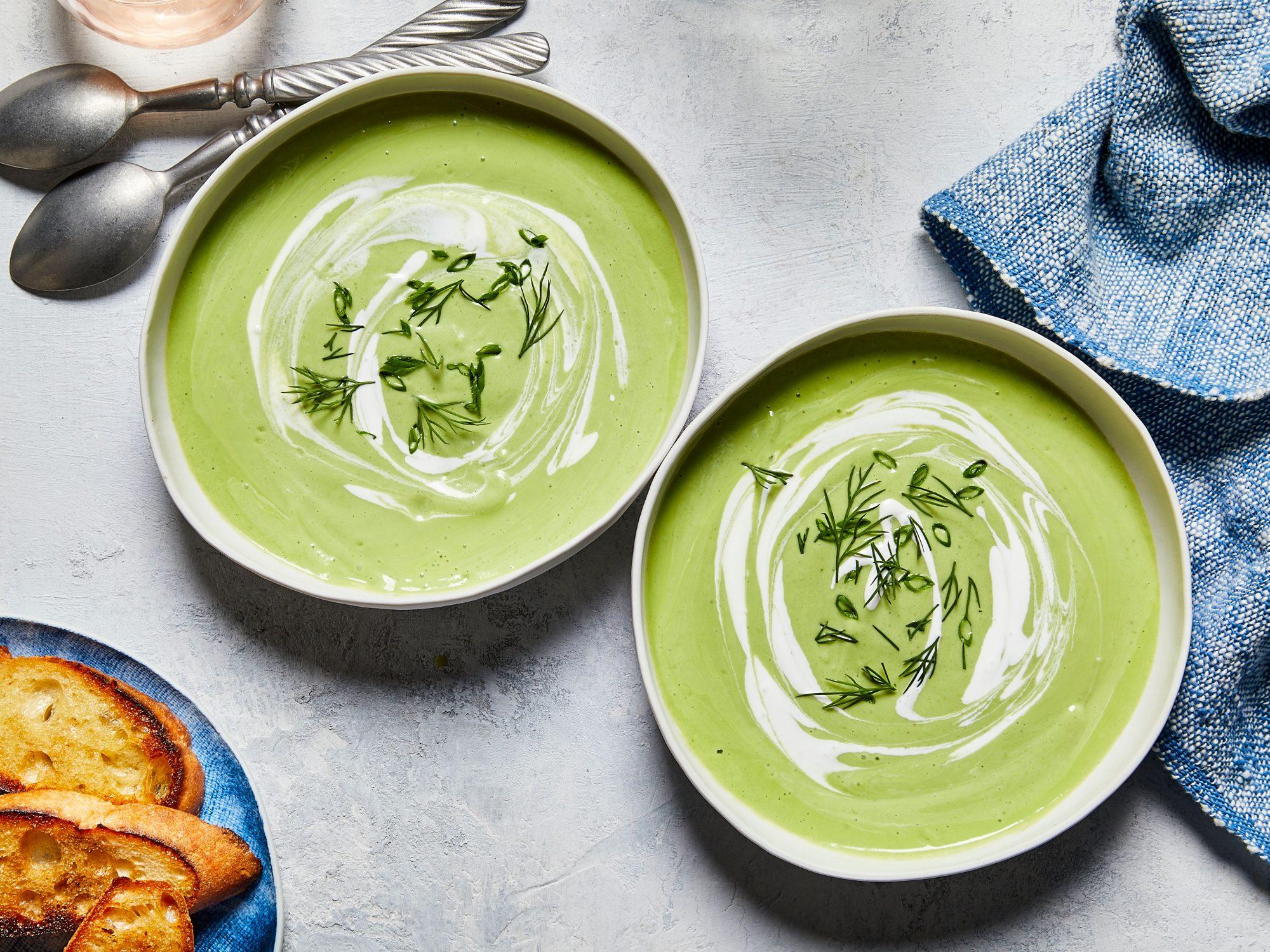 mr- Creamy Watercress-Cucumber Soup
