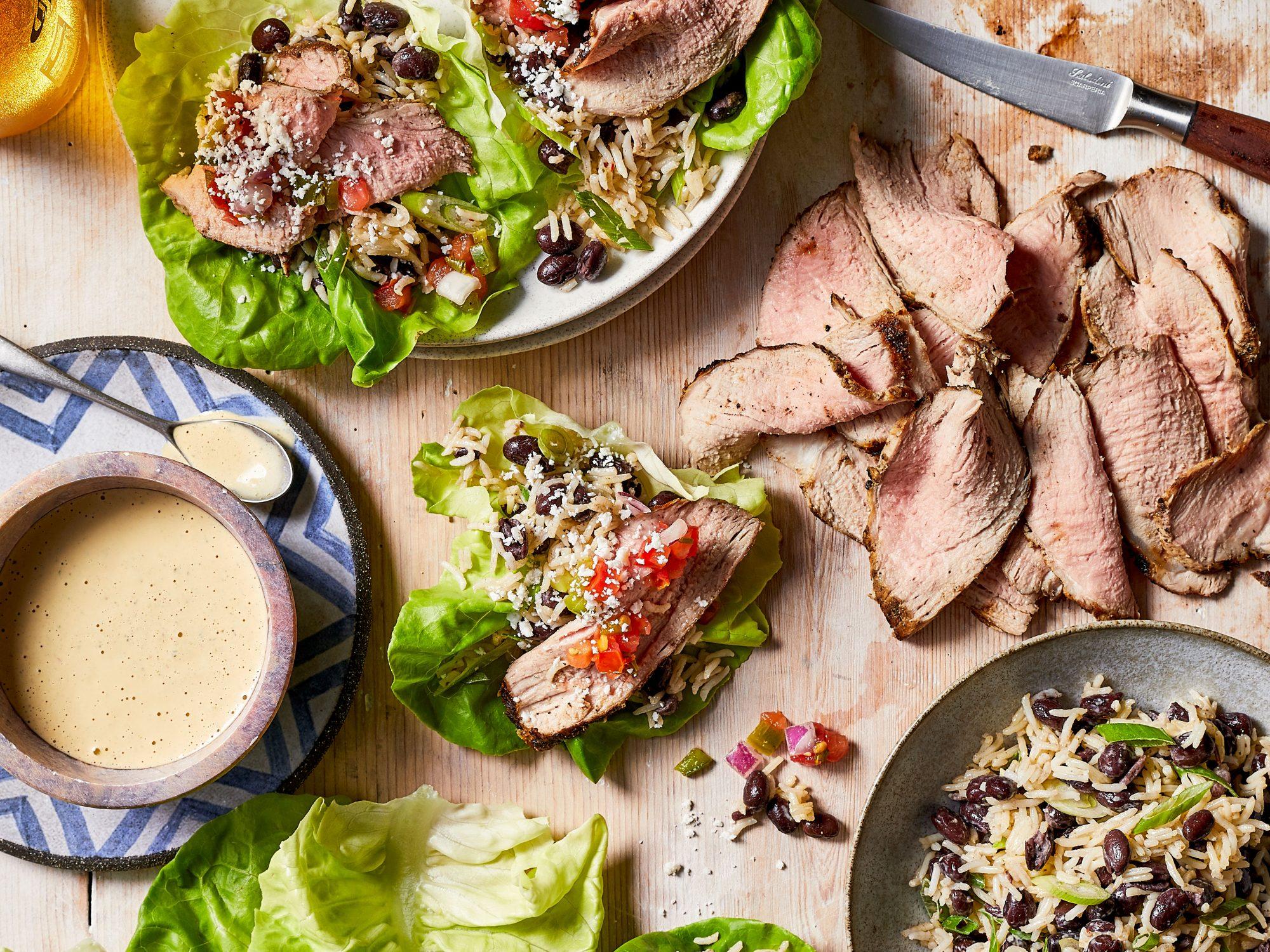 Southwestern Pork Lettuce Wraps